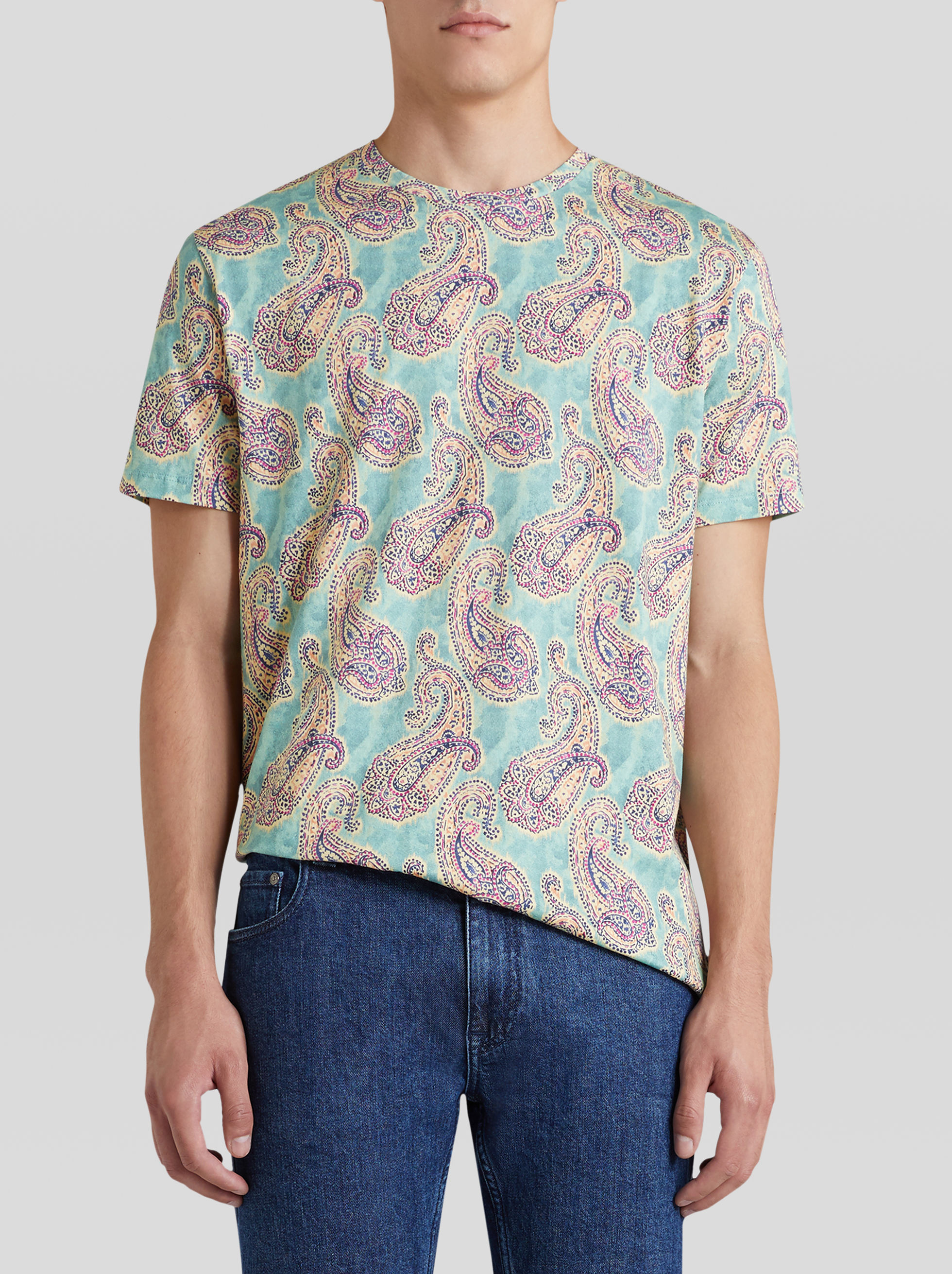 Etro PAISLEY PRINT COTTON T-SHIRT