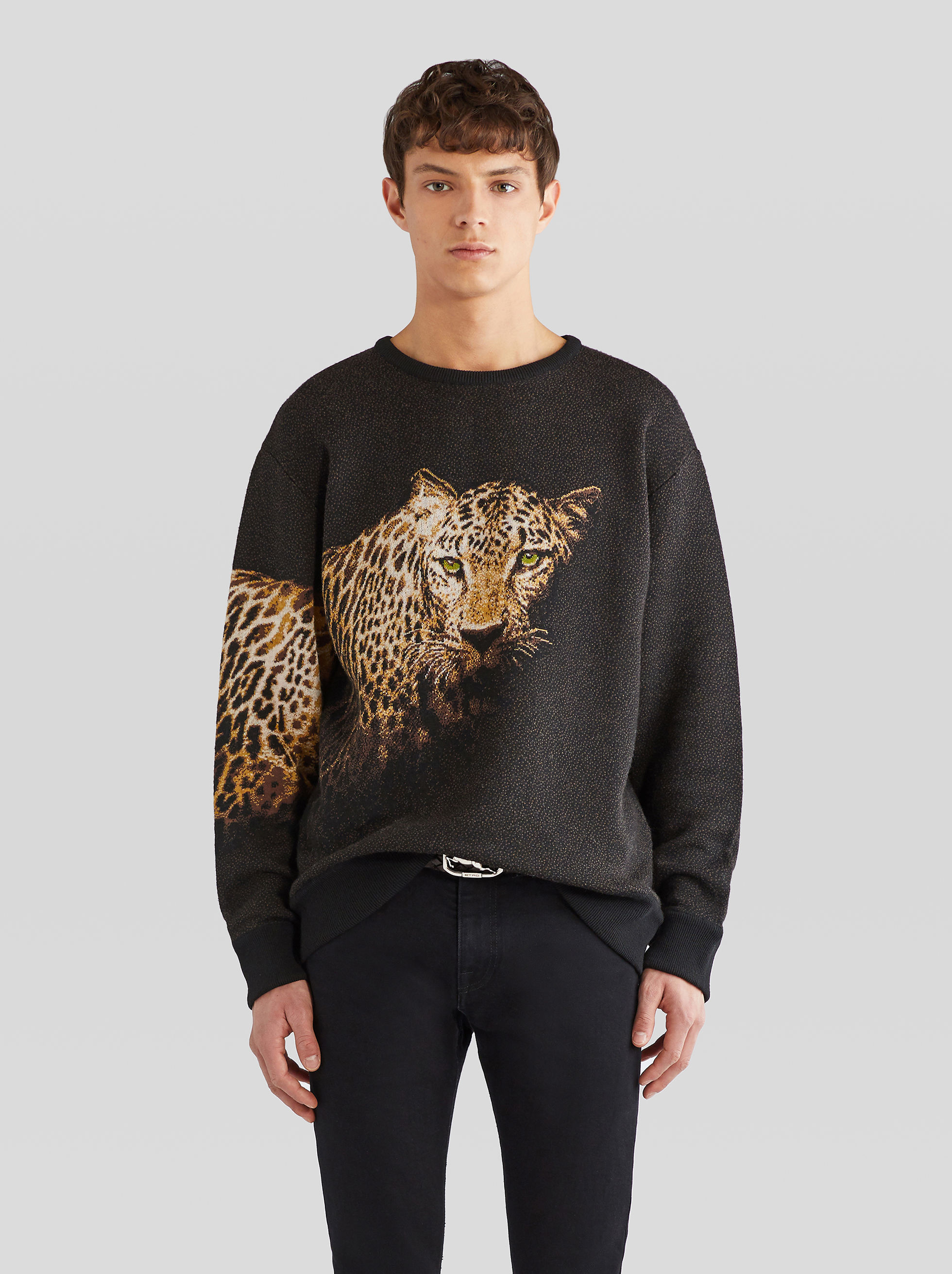 ANIMAL PRINT JACQUARD JUMPER