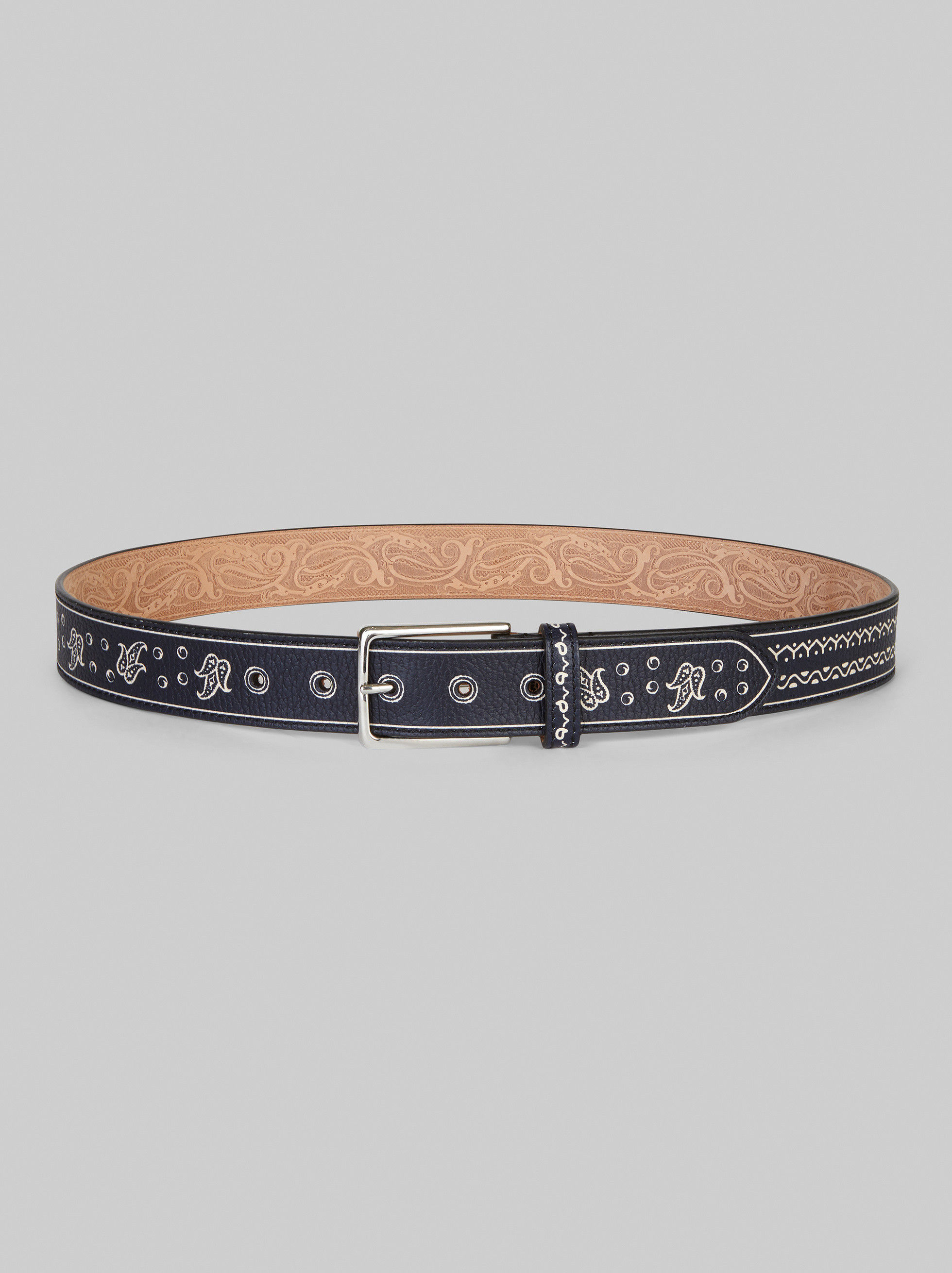 PAISLEY AND GRAPHIC PATTERN BELT