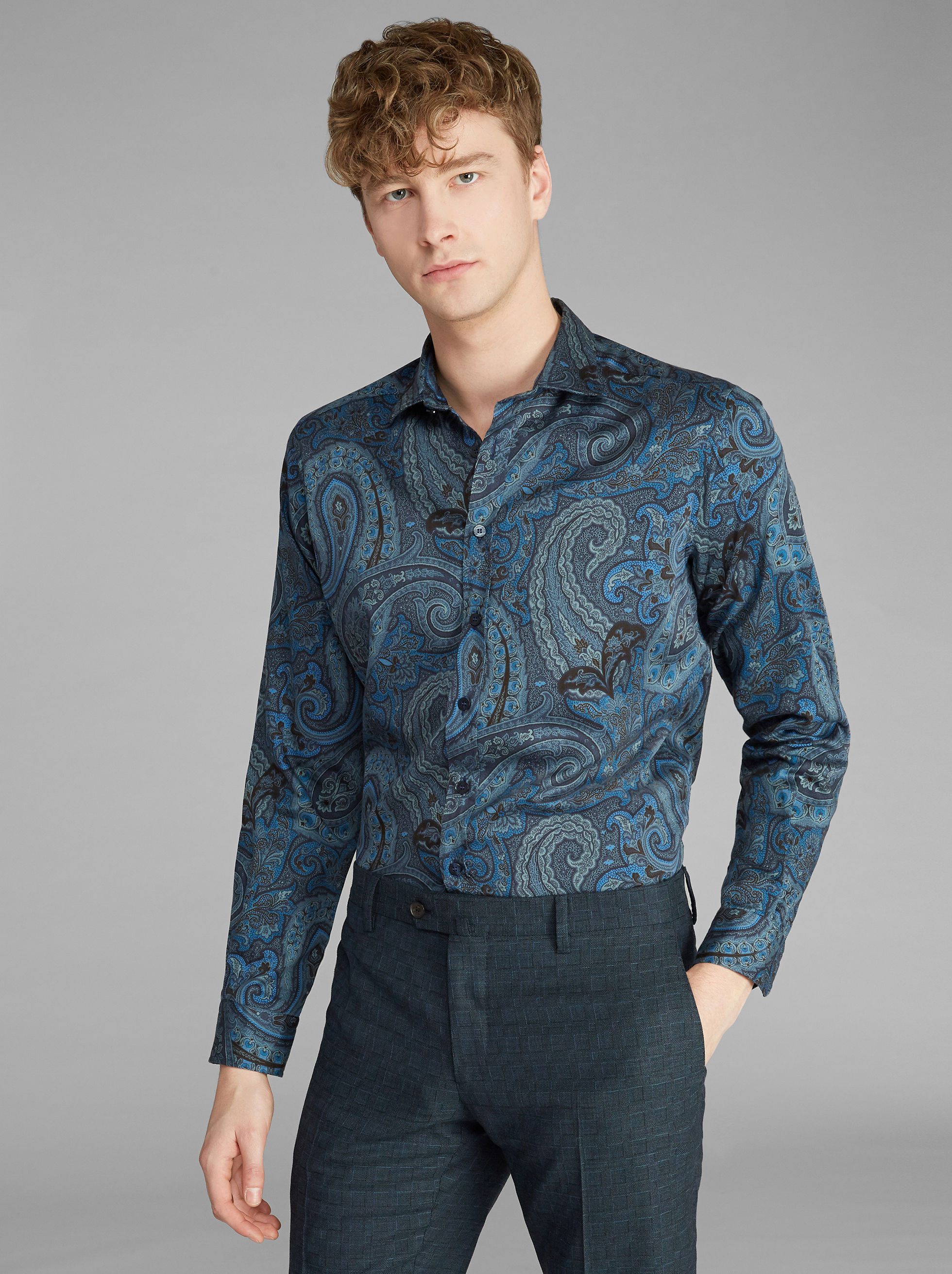 CAMICIA STAMPA PAISLEY