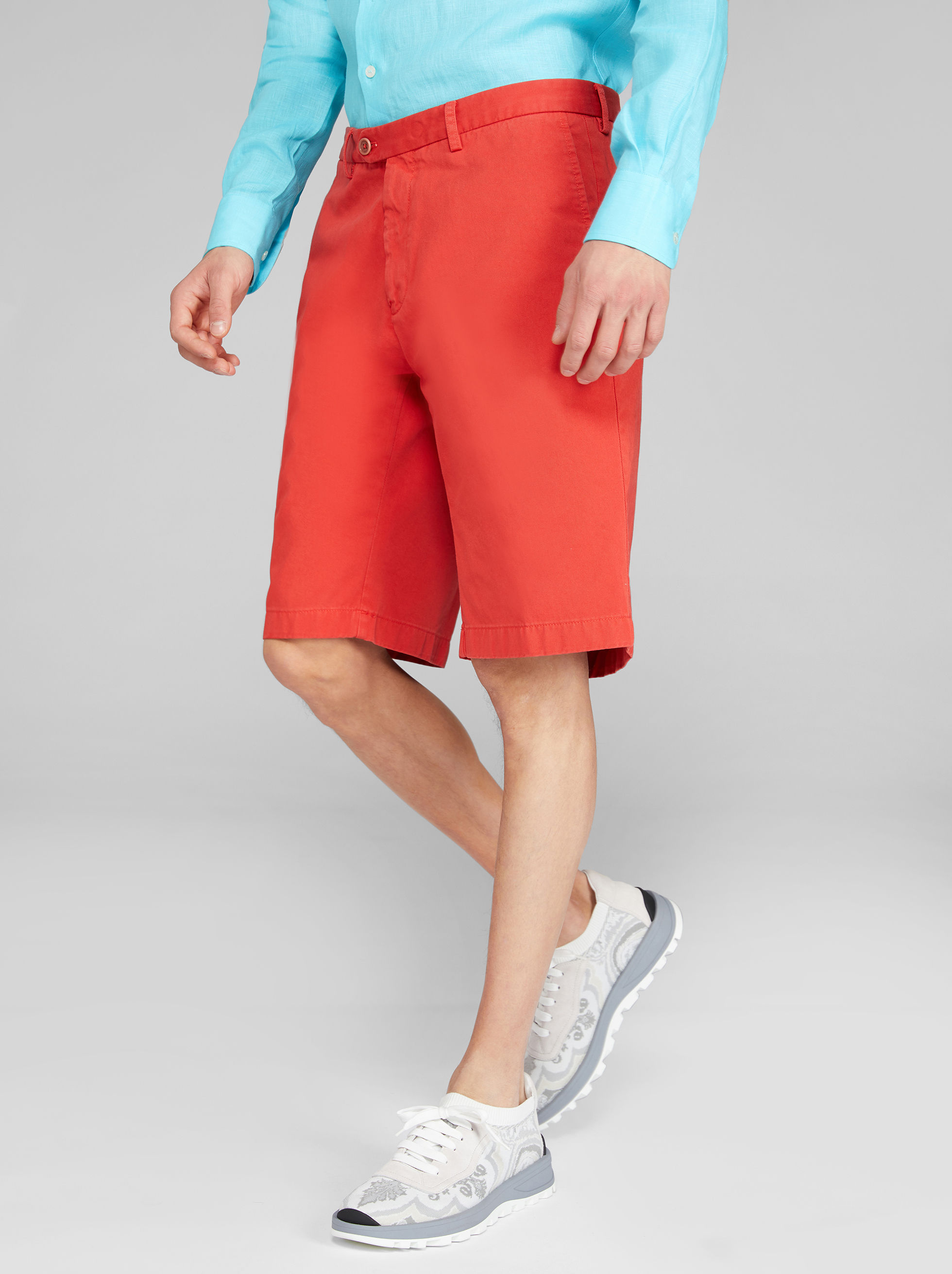 COTTON BERMUDA SHORTS