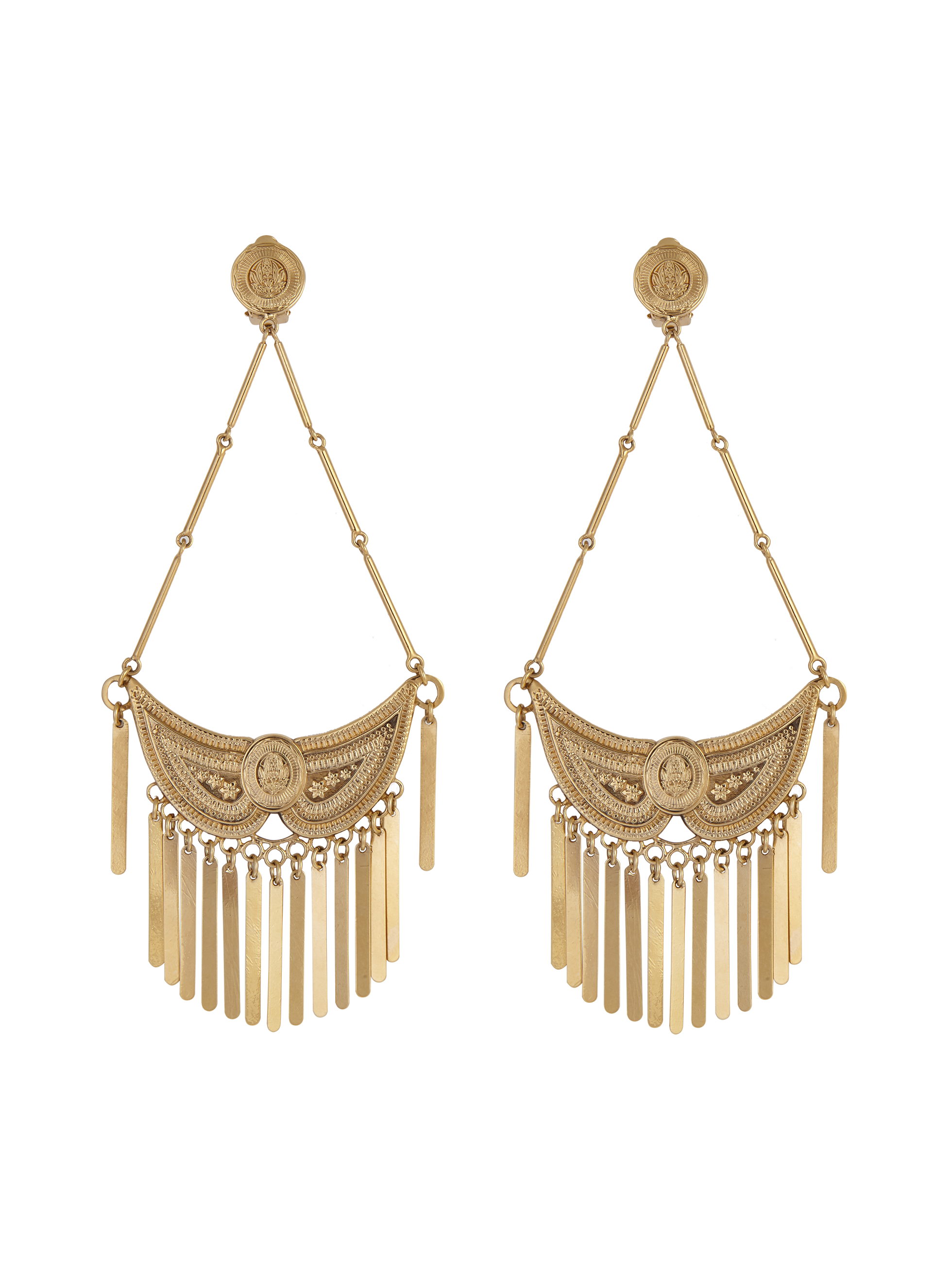 EARRINGS WITH METAL FRINGE