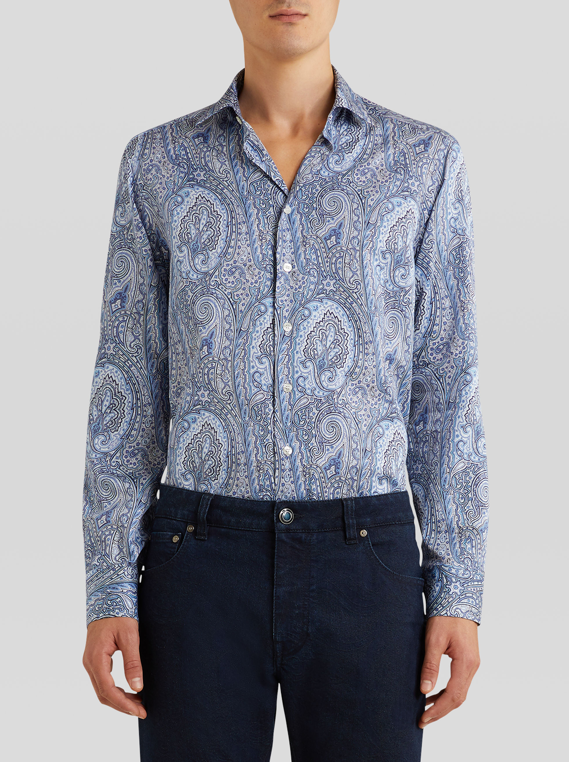 PAISLEY PATTERN COTTON SHIRT