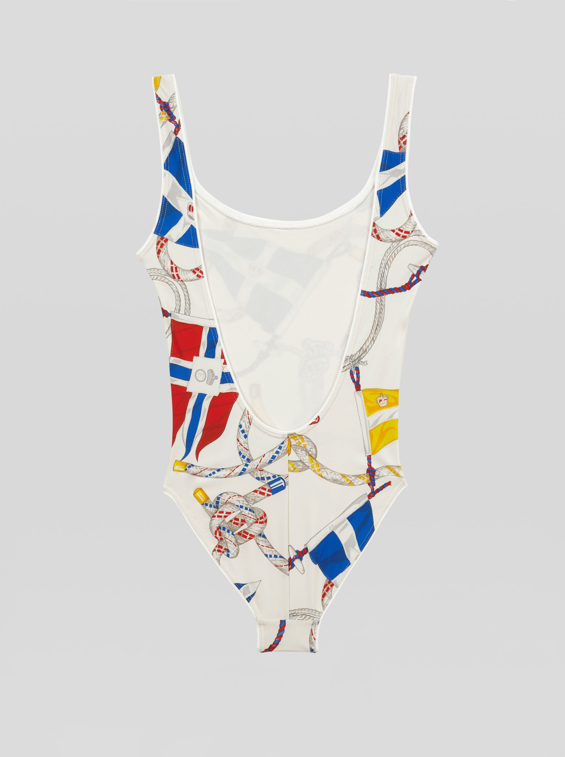 ONE-PIECE SWIMSUIT WITH NAUTICAL PRINT
