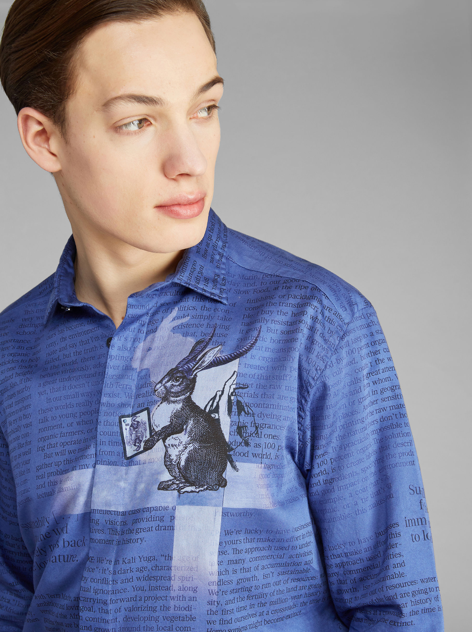 RABBIT-PRINT SHIRT
