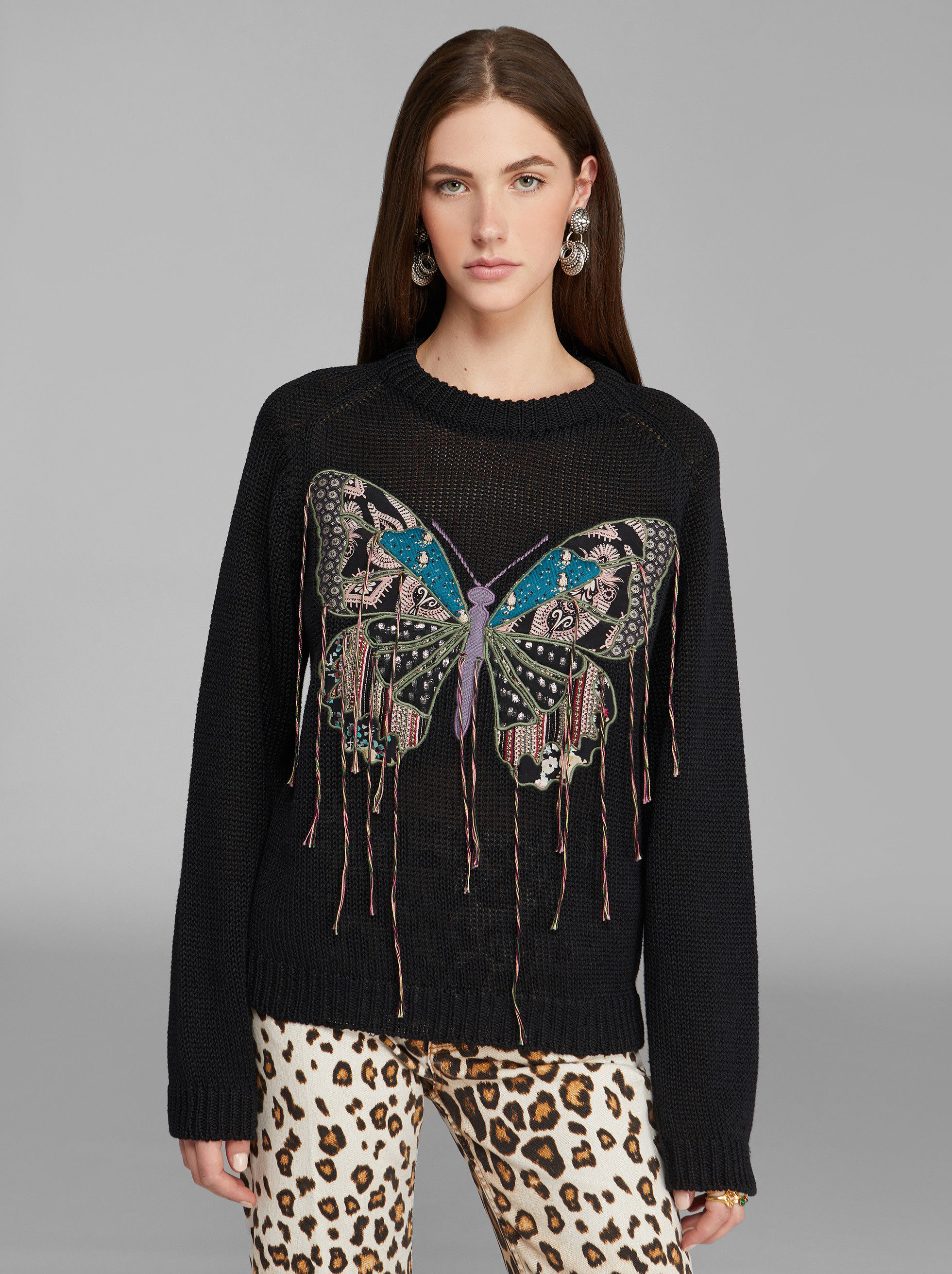 JUMPER WITH BUTTERFLY EMBROIDERY