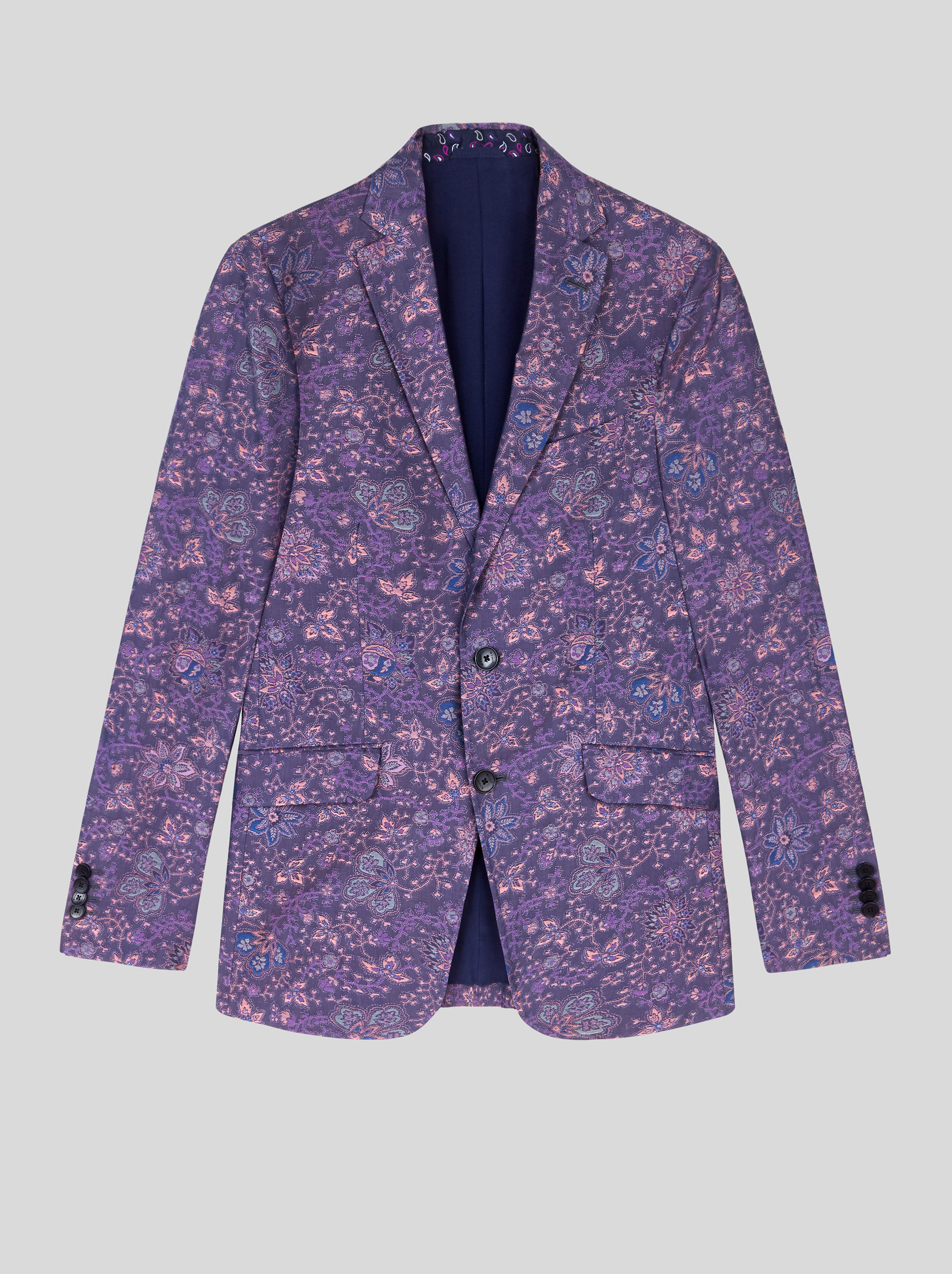FLOWER JACQUARD TAILORED JACKET