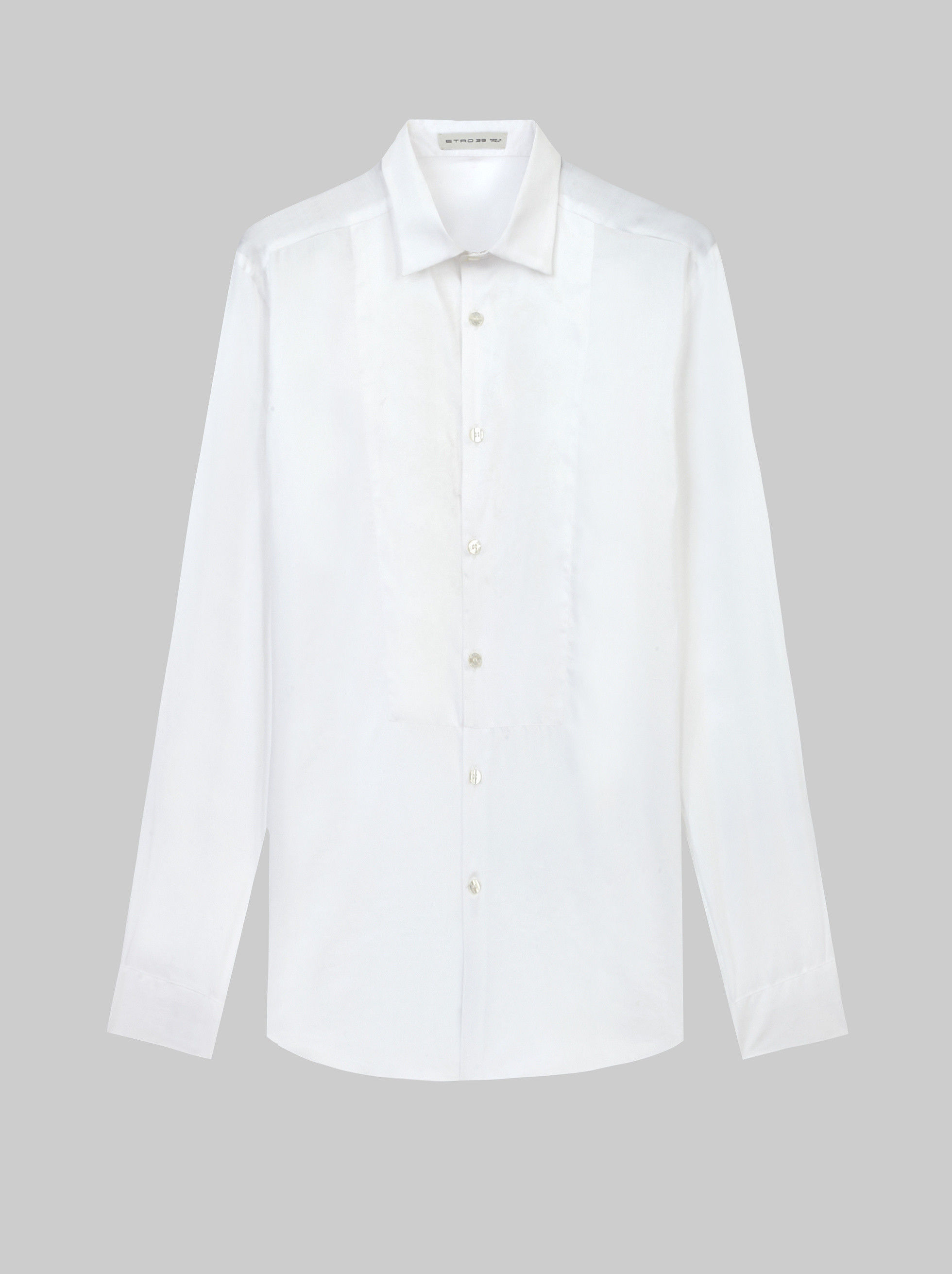 COTTON SHIRT WITH EMBROIDERED BIB