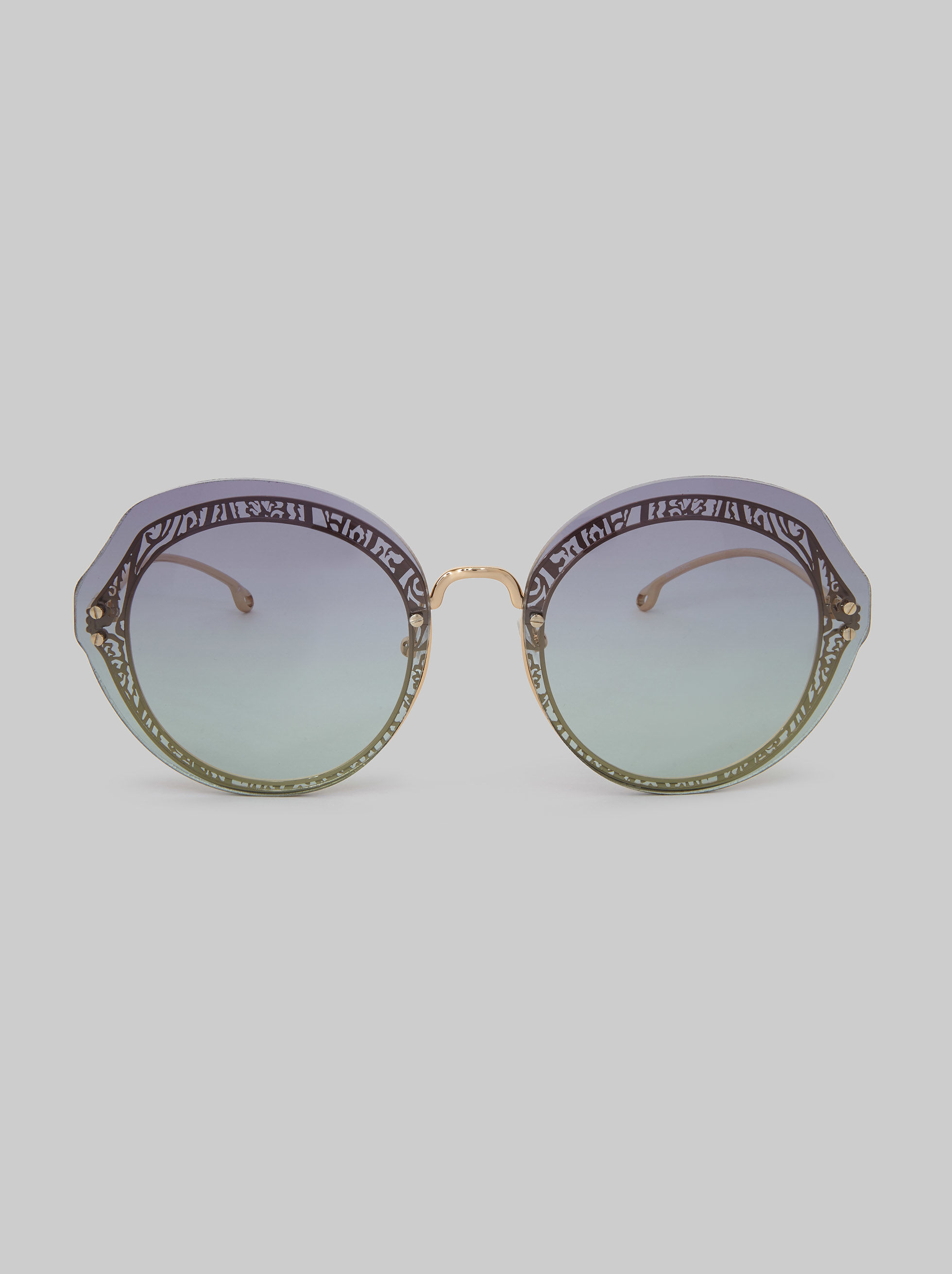 ROUND SUNGLASSES WITH PAISLEY DECORATION