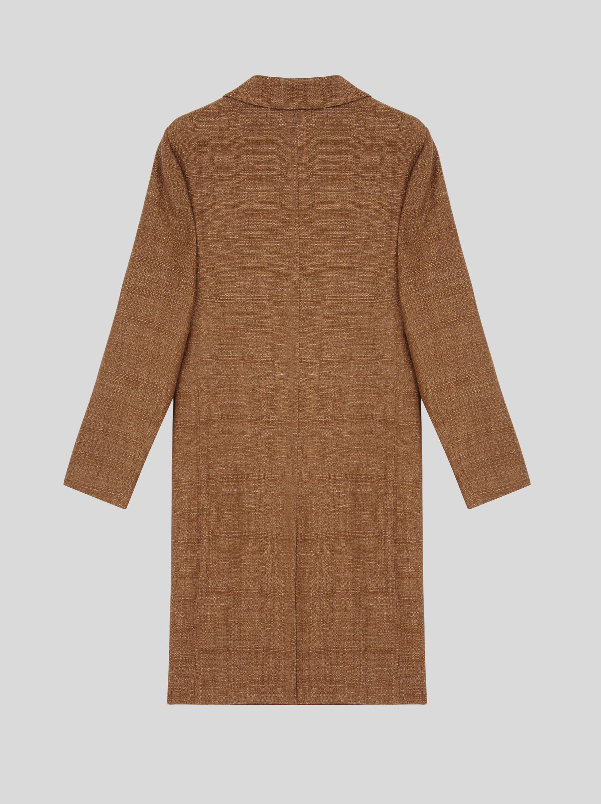 LIGHT LINEN AND SILK COAT