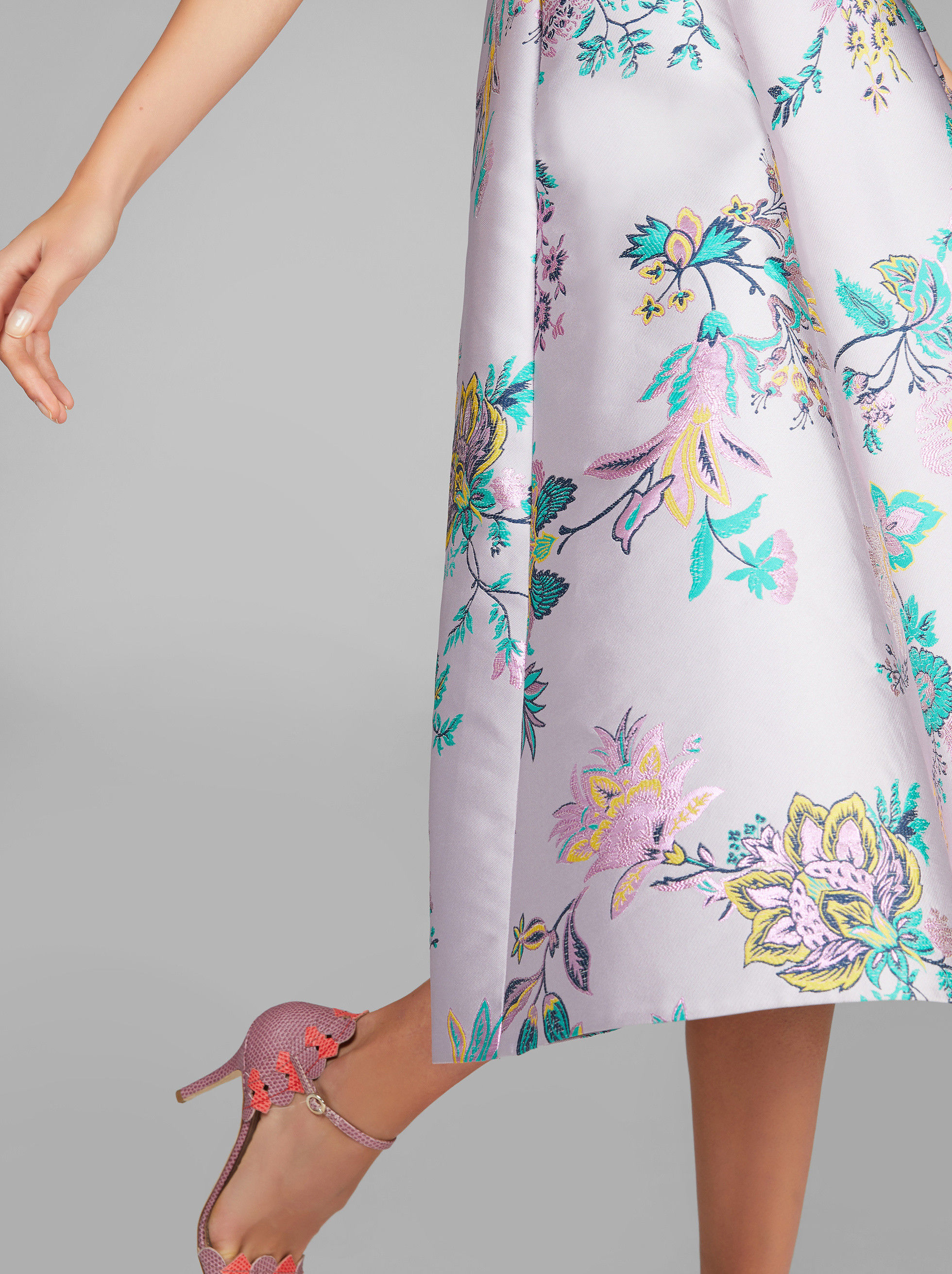 FLOWERED JACQUARD DRESS