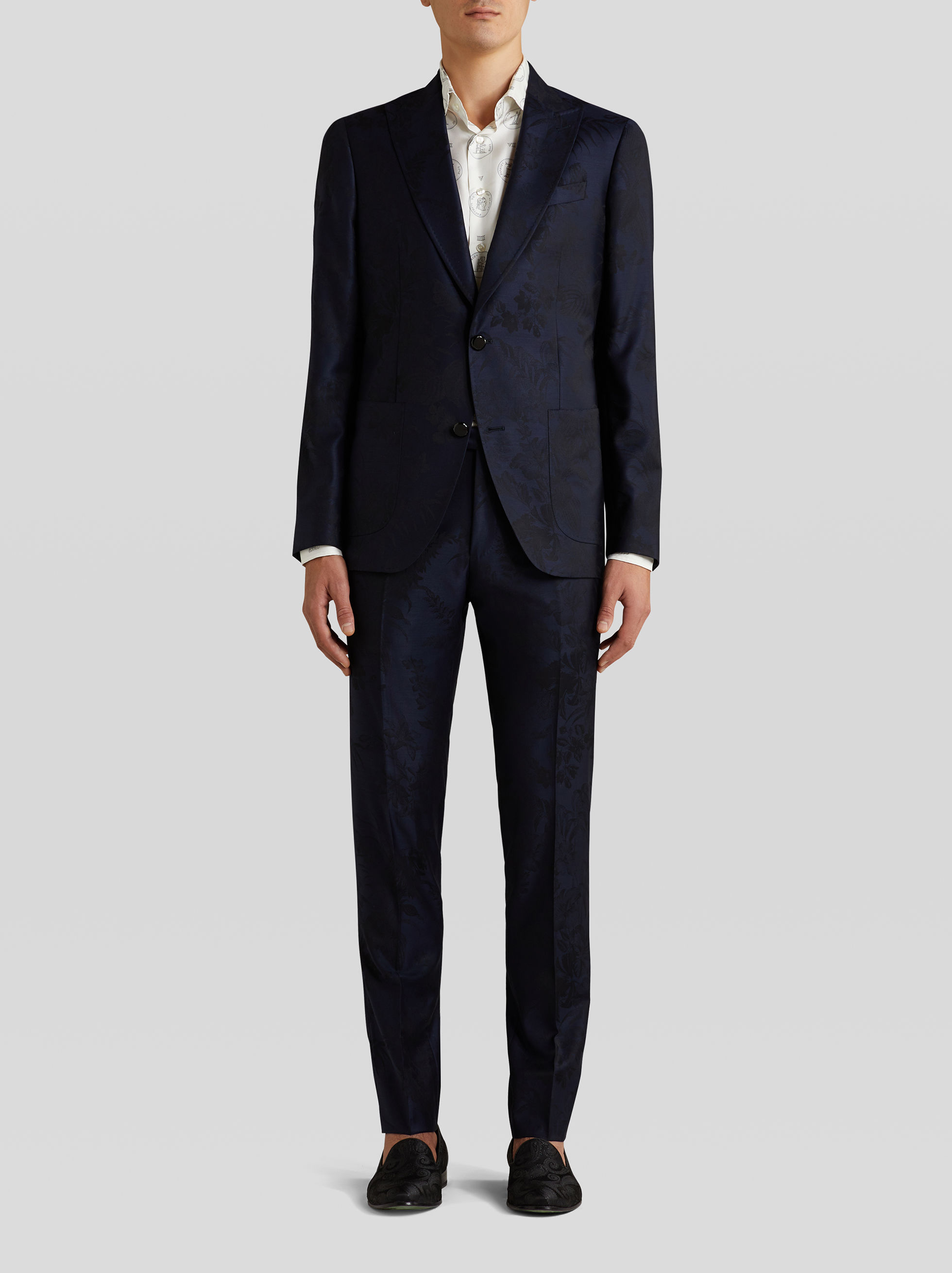TAILORED WOOL SUIT IN JACQUARD