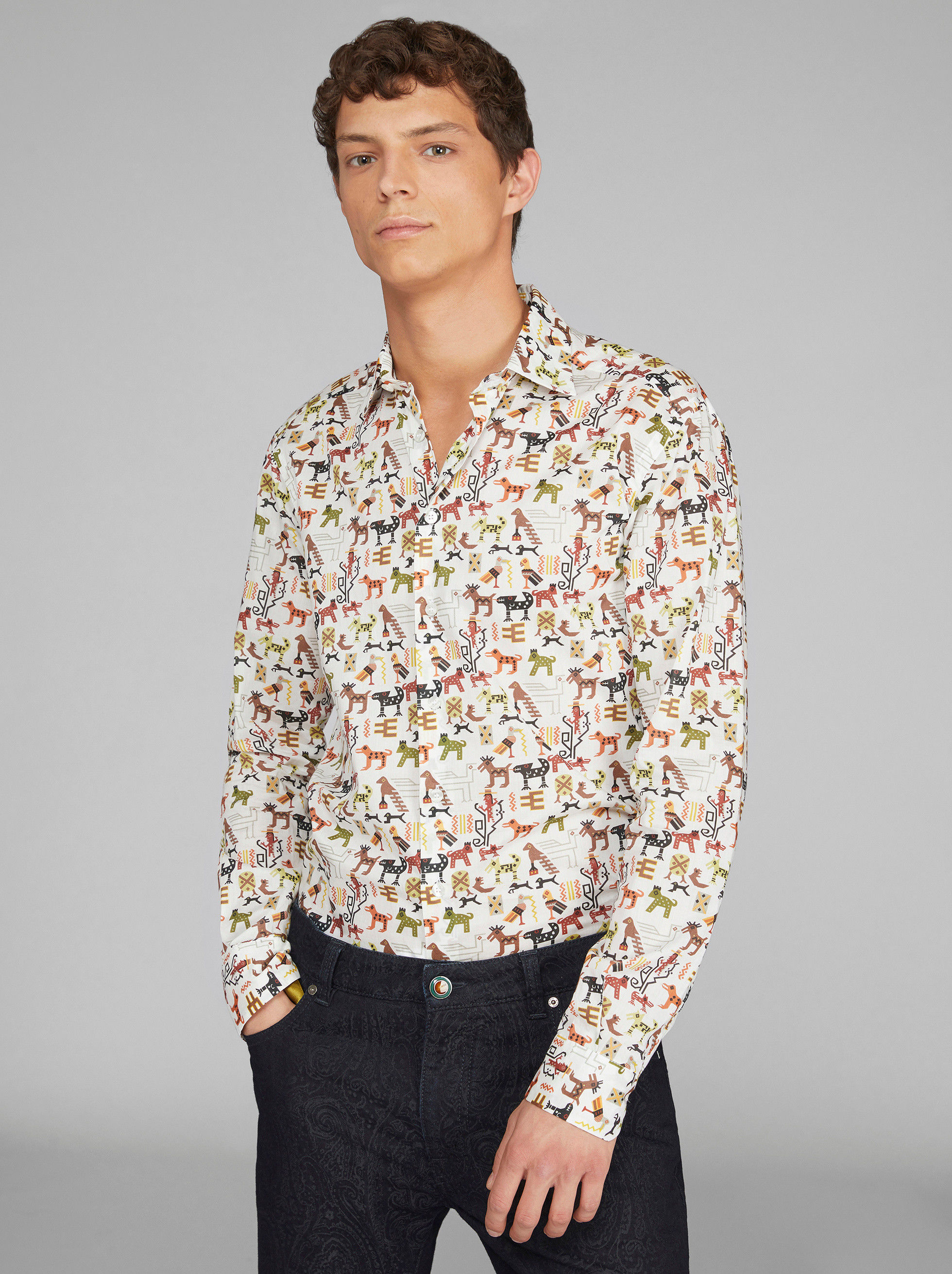 MEXICAN PATTERN COTTON SHIRT