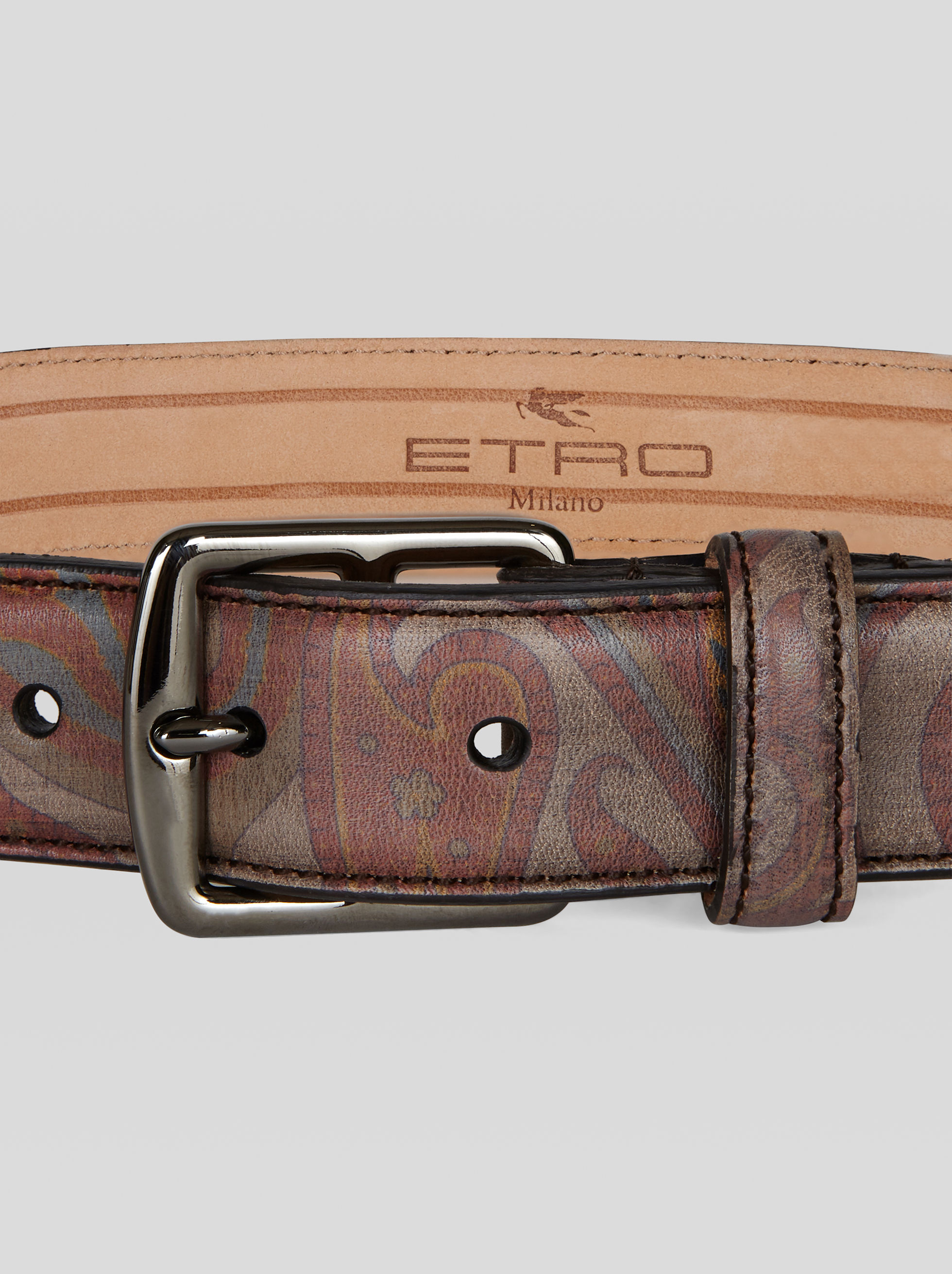 PAISLEY DESIGN LEATHER BELT