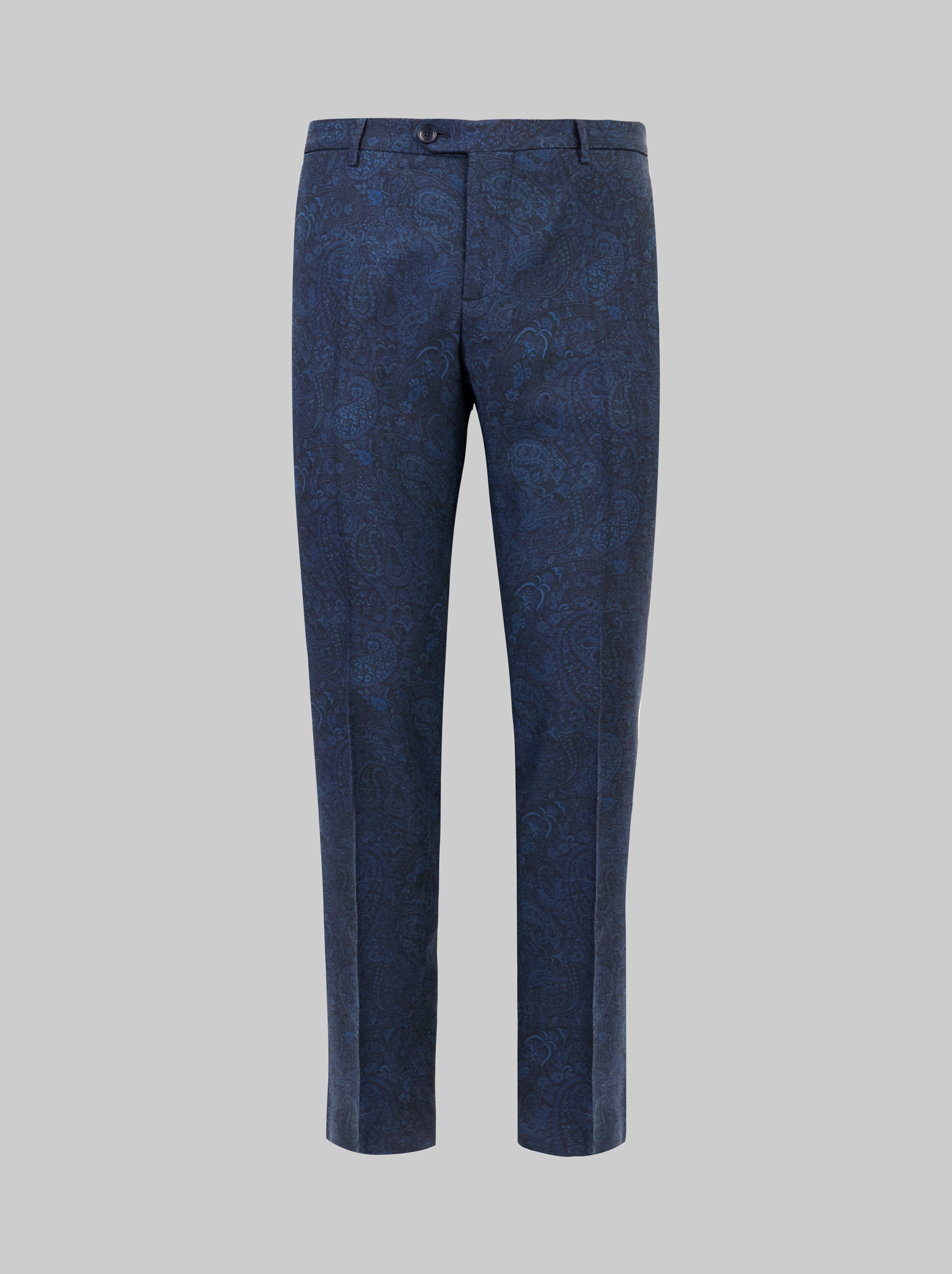PAISLEY PRINT TAILORED TROUSERS