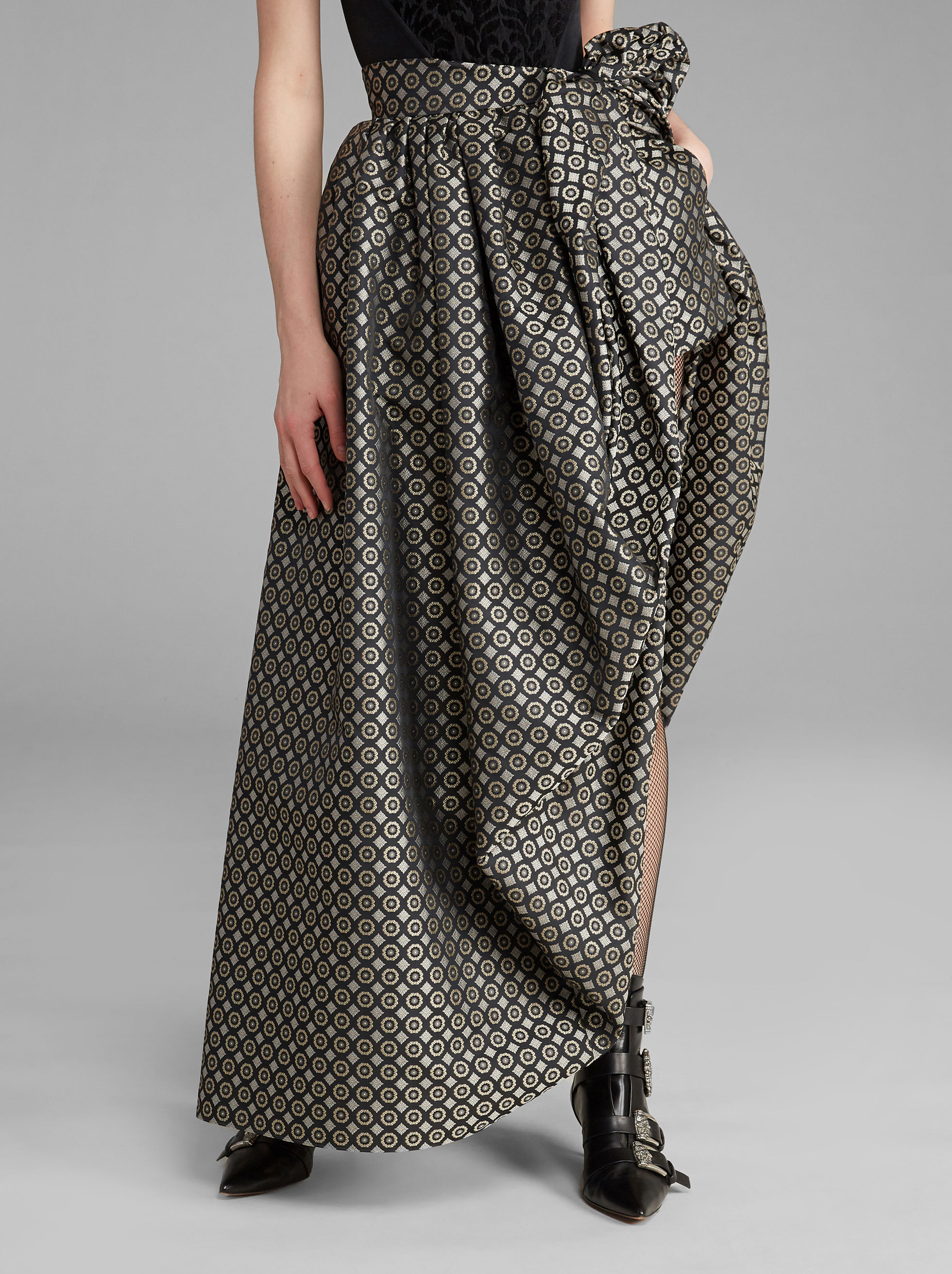 JACQUARD LONG SKIRT