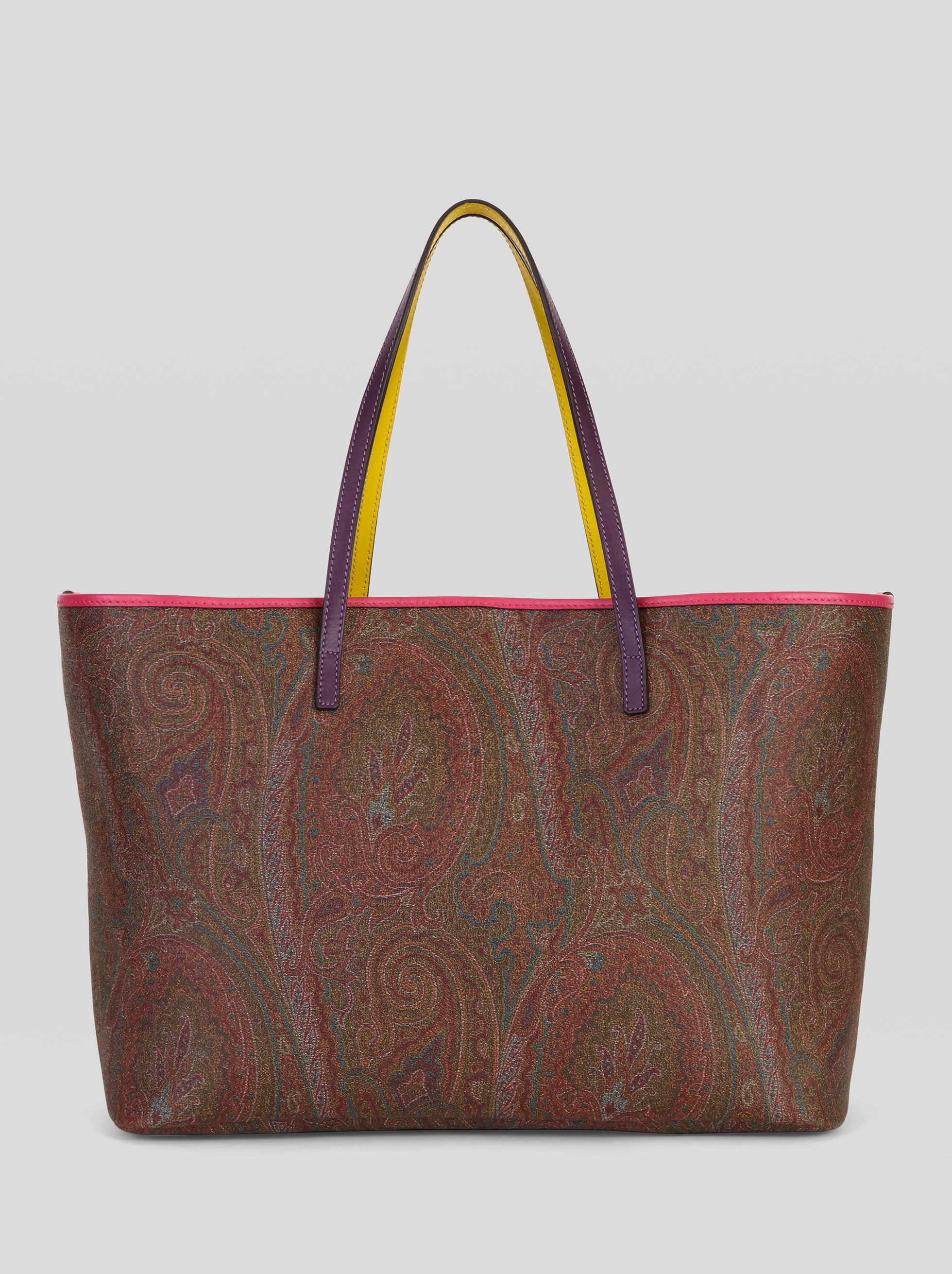 LARGE PAISLEY TOTE BAG WITH POCHETTE