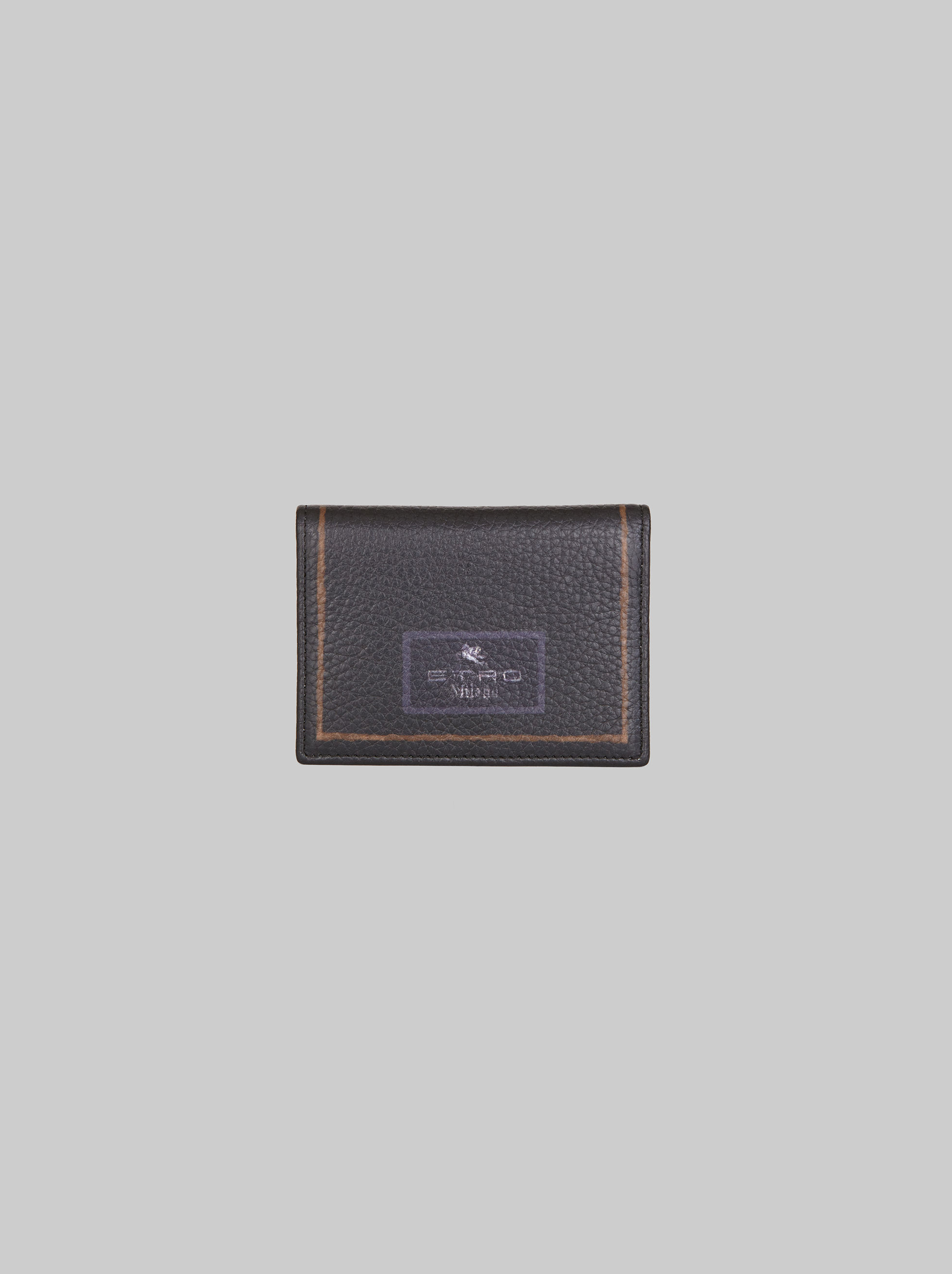 CARPET-PRINT LEATHER BUSINESS CARD HOLDER