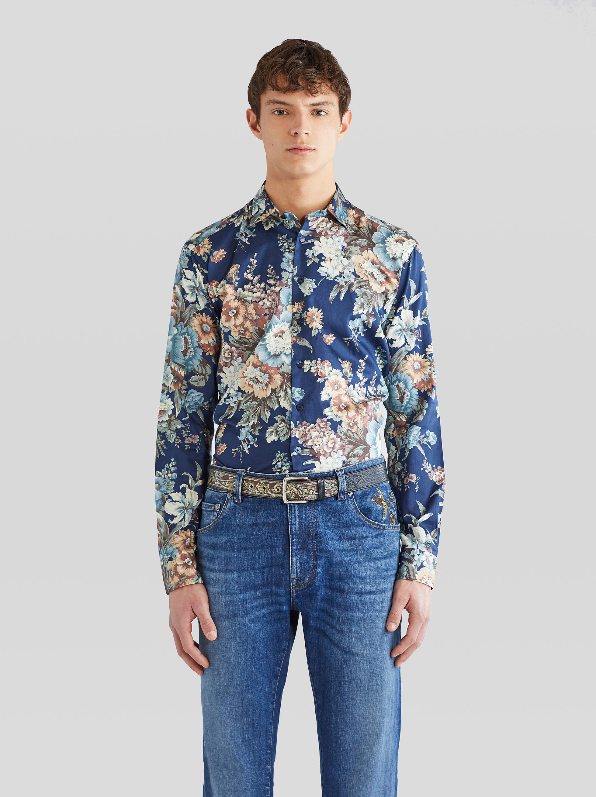 FLOWERED COTTON SHIRT