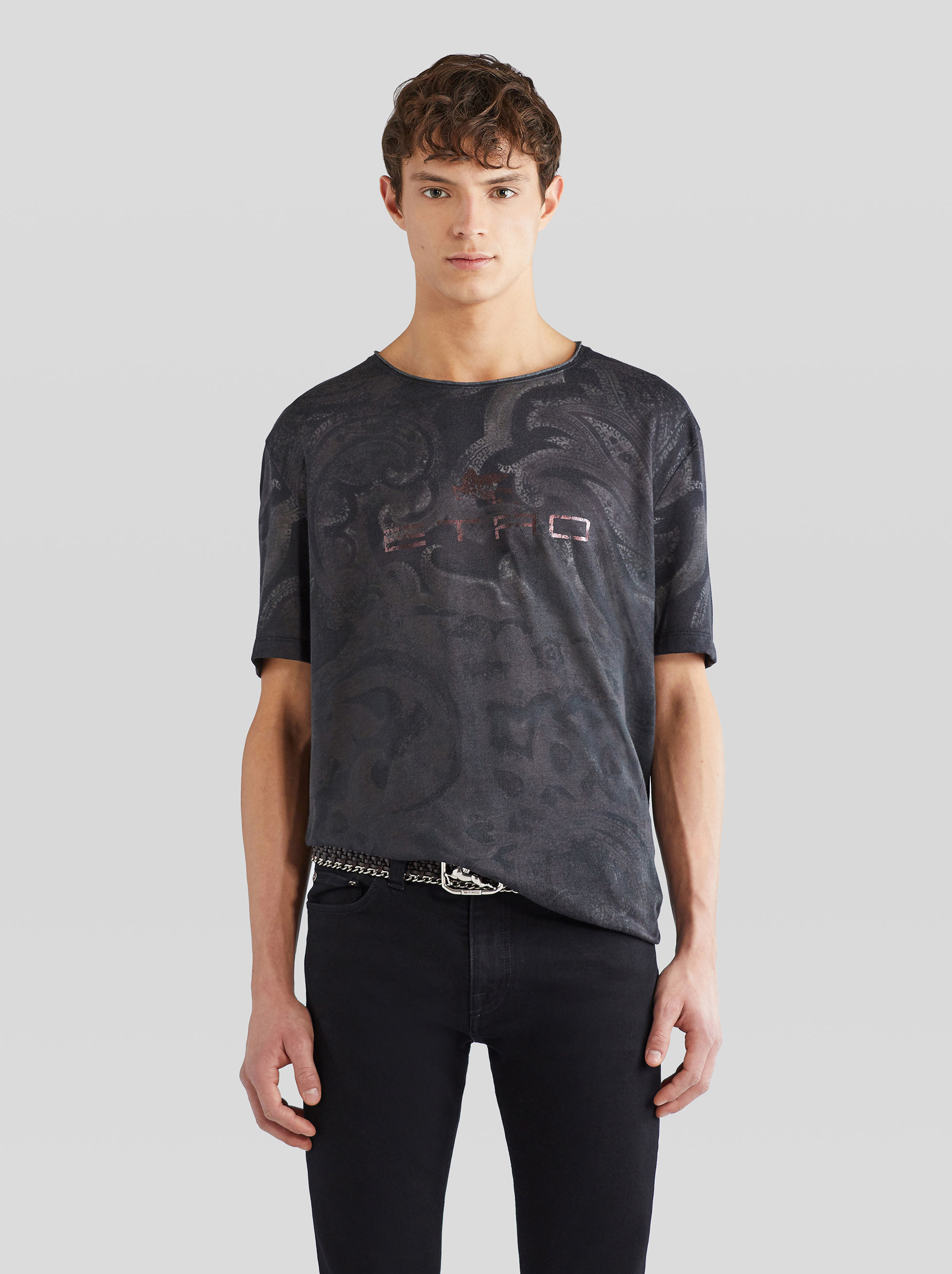 T-SHIRT WITH PAISLEY PRINT WITH PEGASO