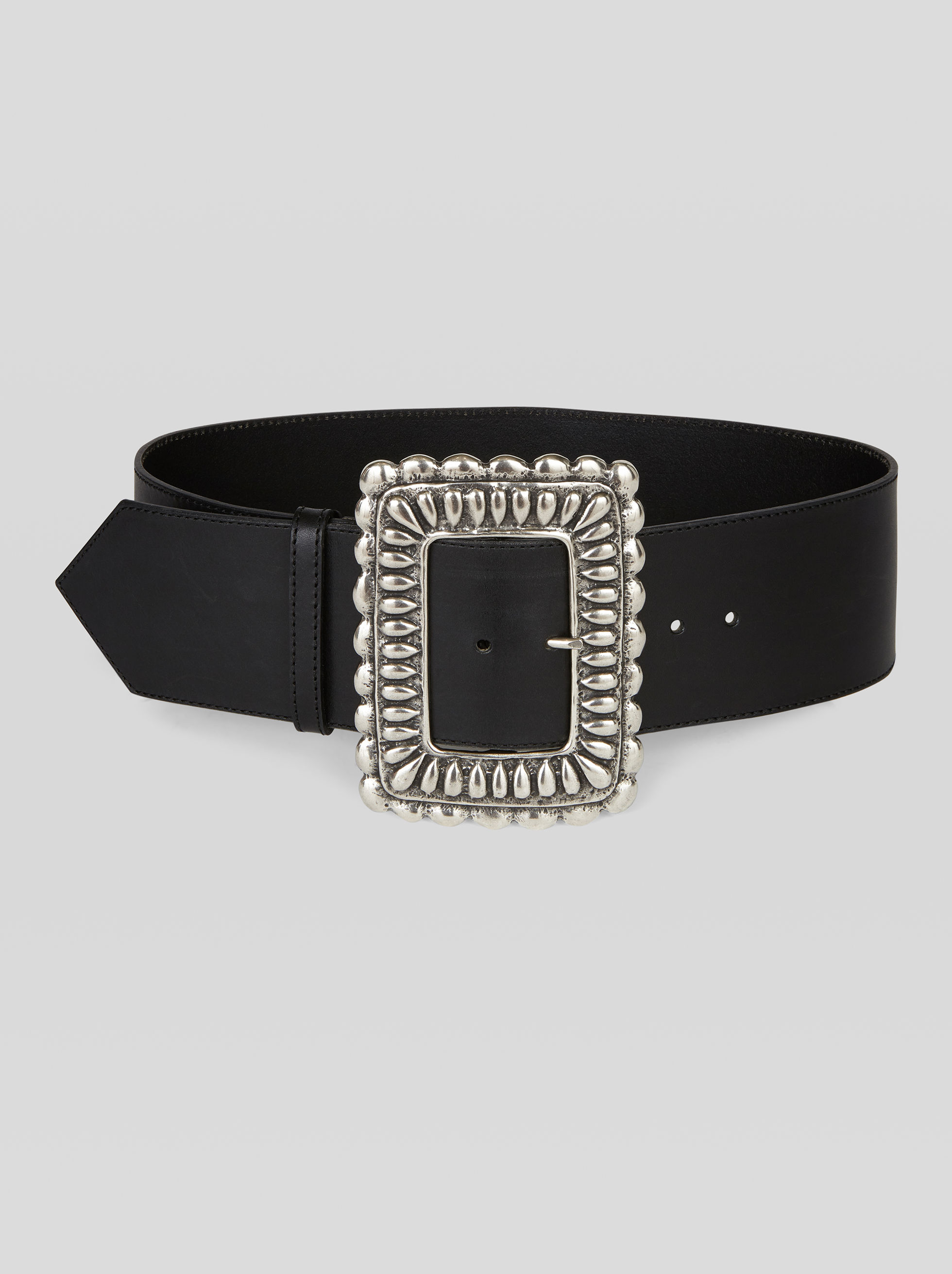 LEATHER BELT WITH MAXI BUCKLE