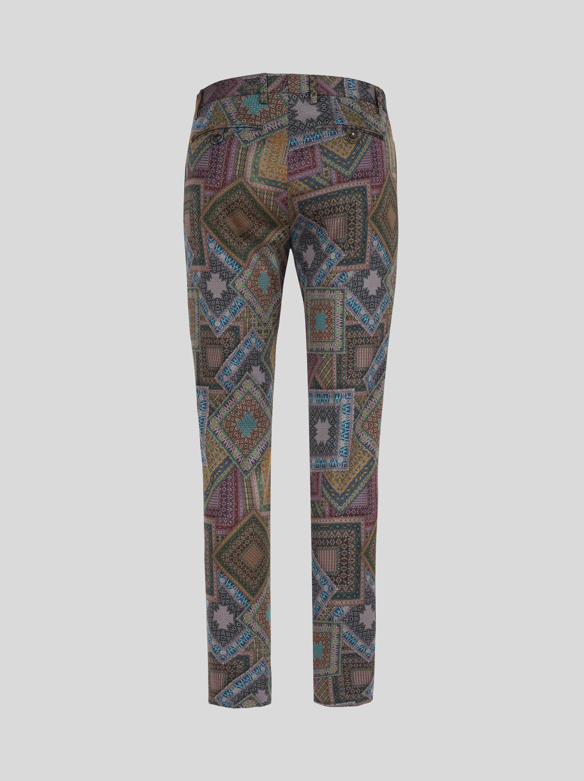 COTTON TROUSERS IN POUCH PRINT
