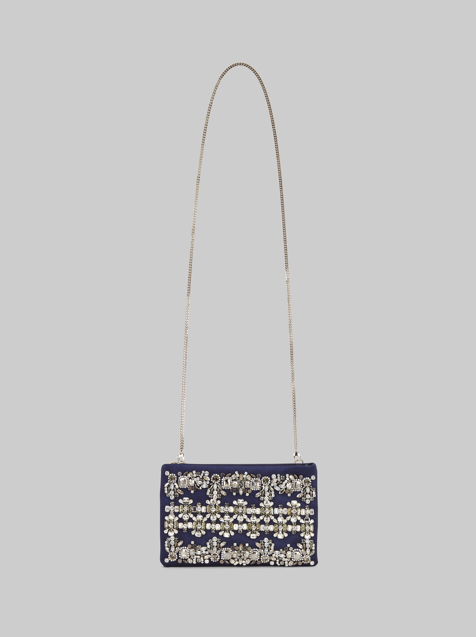 CLUTCH BAG WITH JEWEL EMBROIDERY