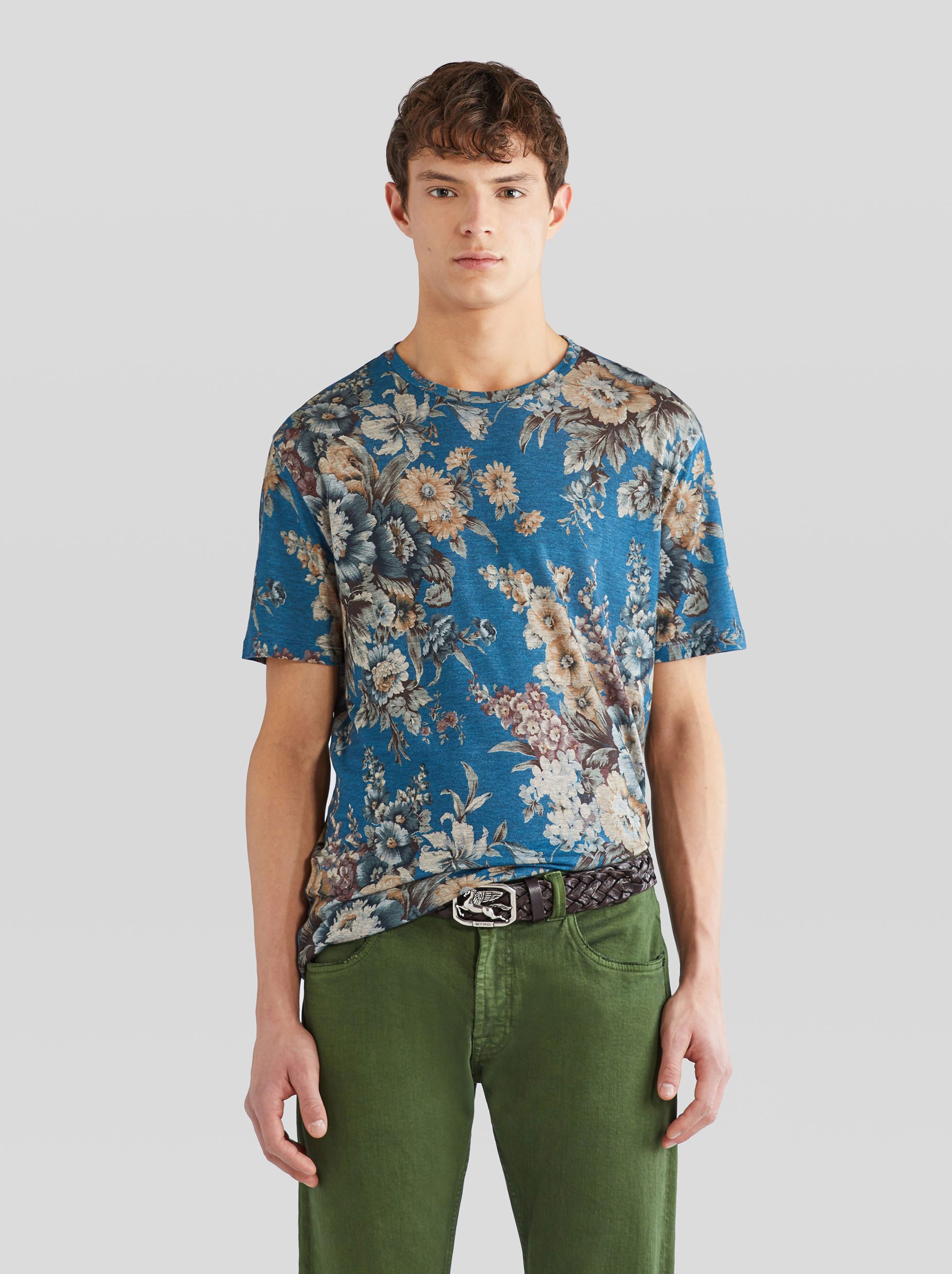 FLOWERED TENCEL ™ - LYOCELL BENETROESSERE T-SHIRT