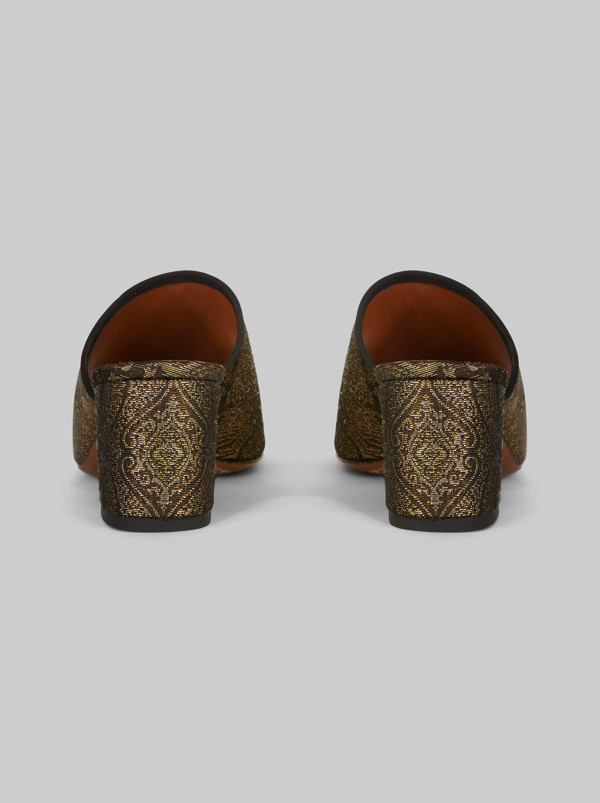 JACQUARD SANDALS WITH EMBROIDERY