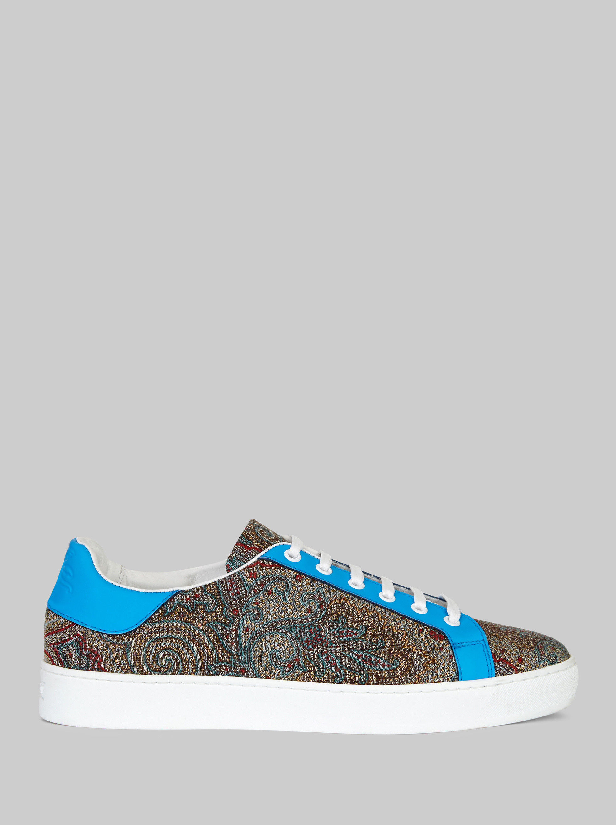 PAISLEY SNEAKERS WITH FLUO DETAILING
