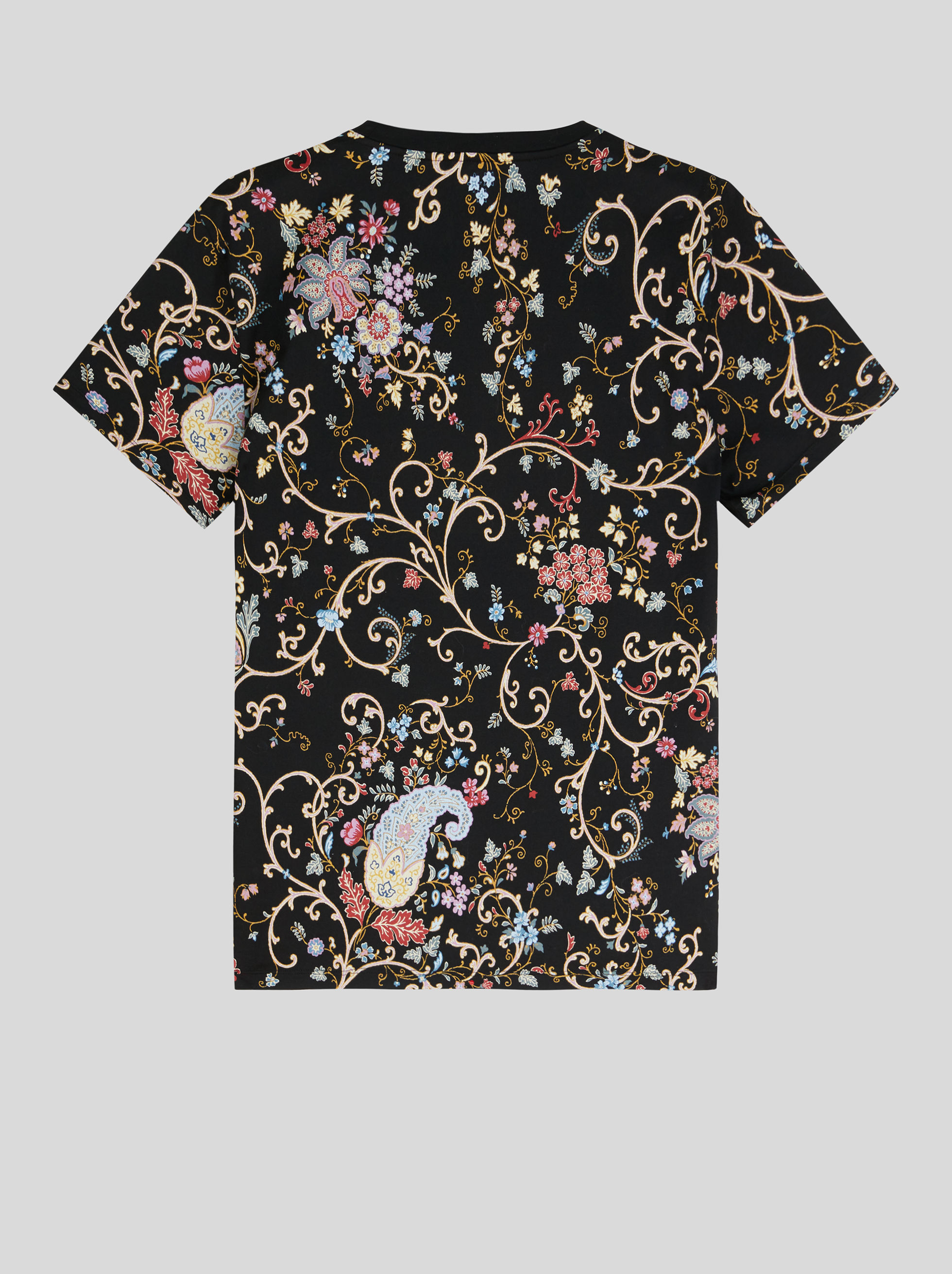 T-SHIRT WITH LEAFY PAISLEY PRINT