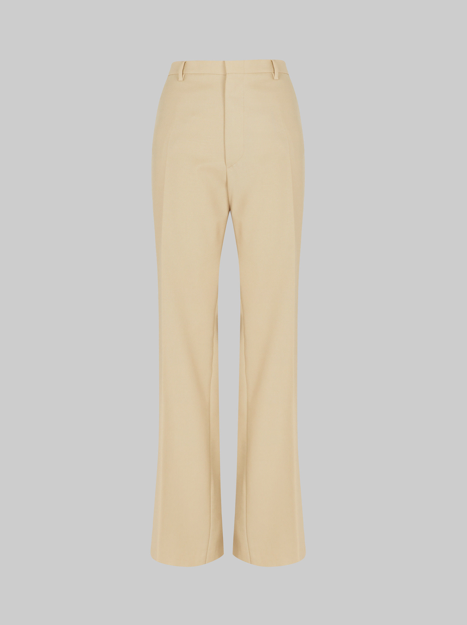 FLARED WOOL TROUSERS