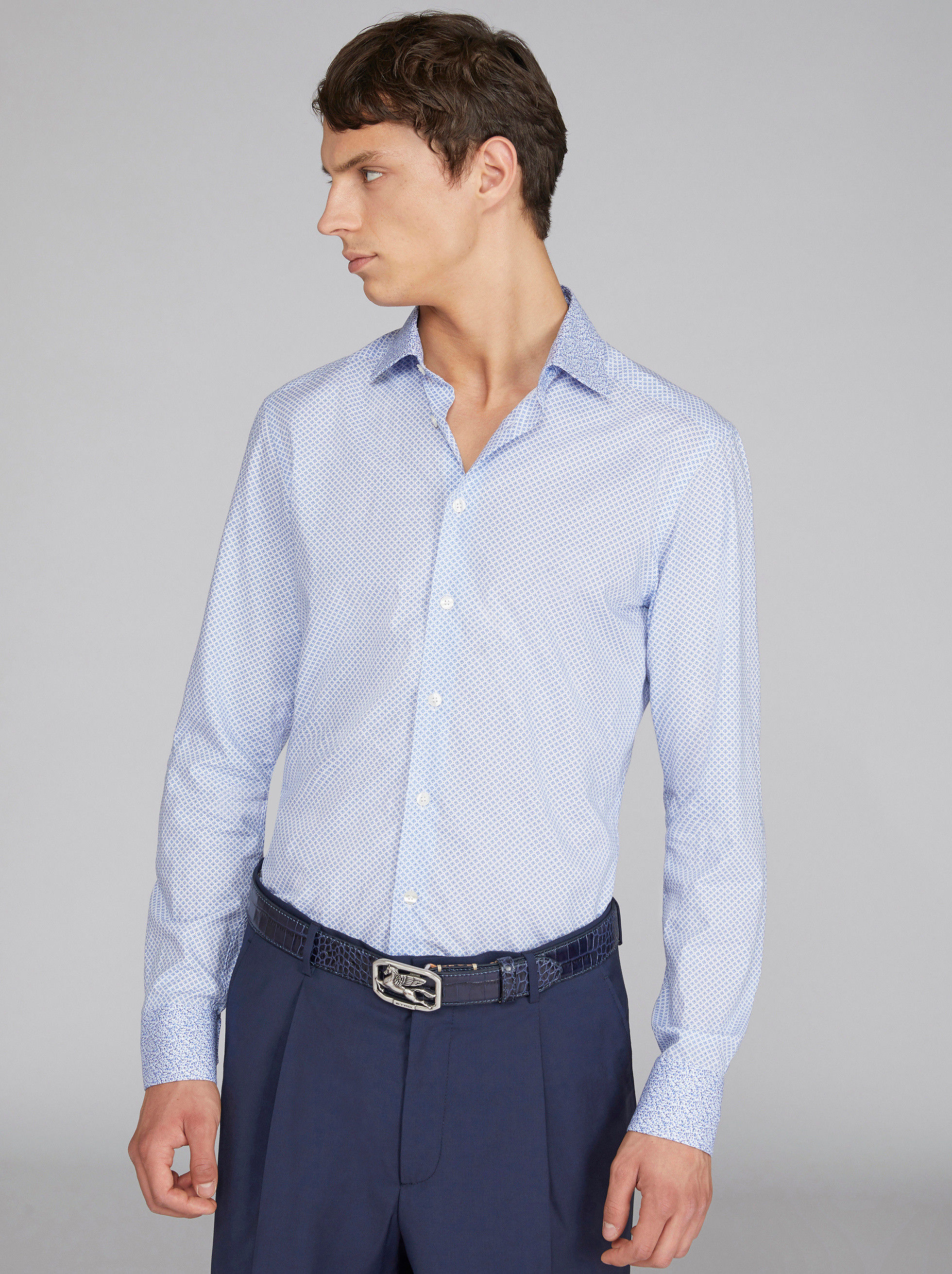 DUAL FABRIC COTTON SHIRT