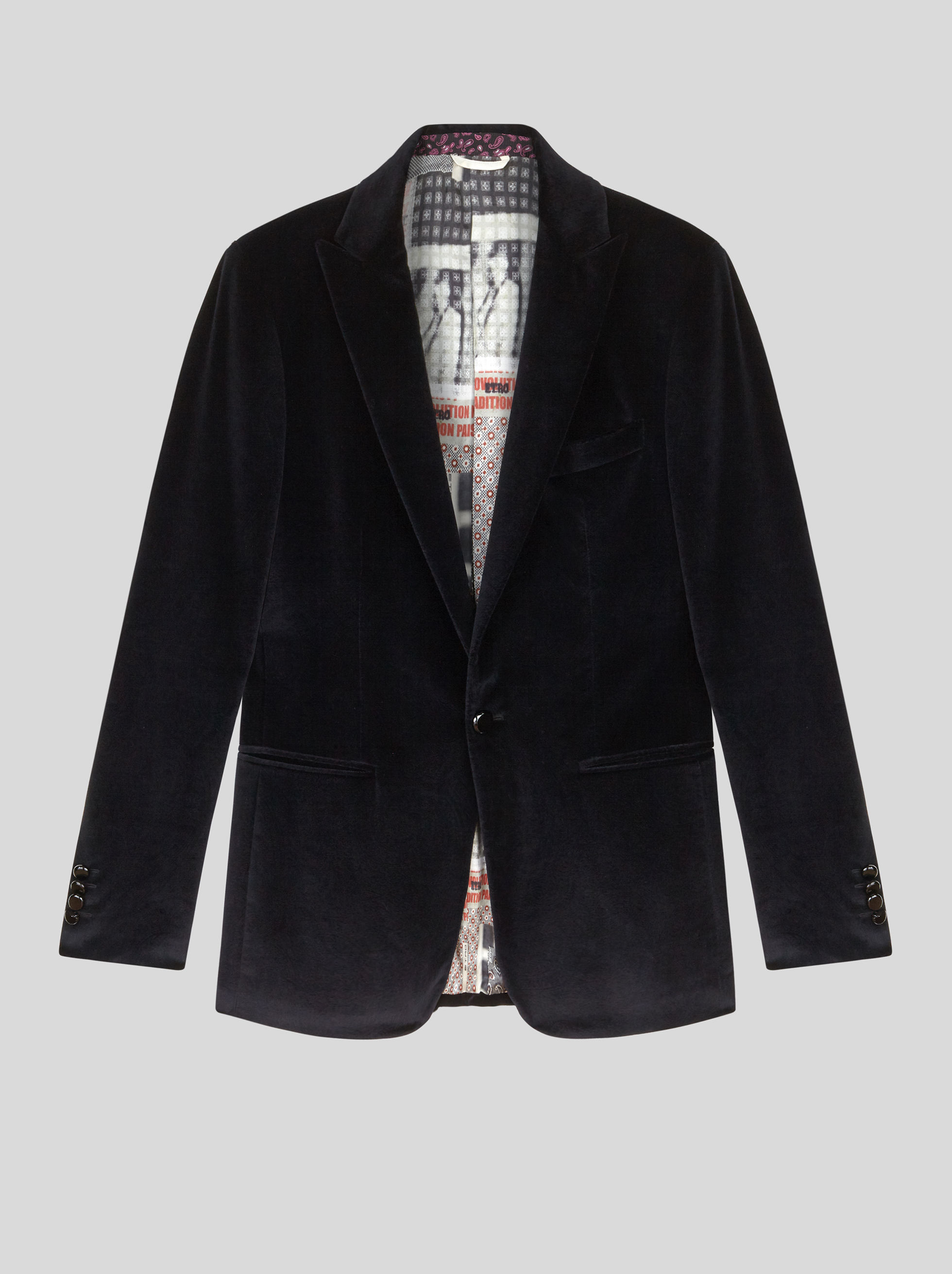 VELVET TAILORED JACKET