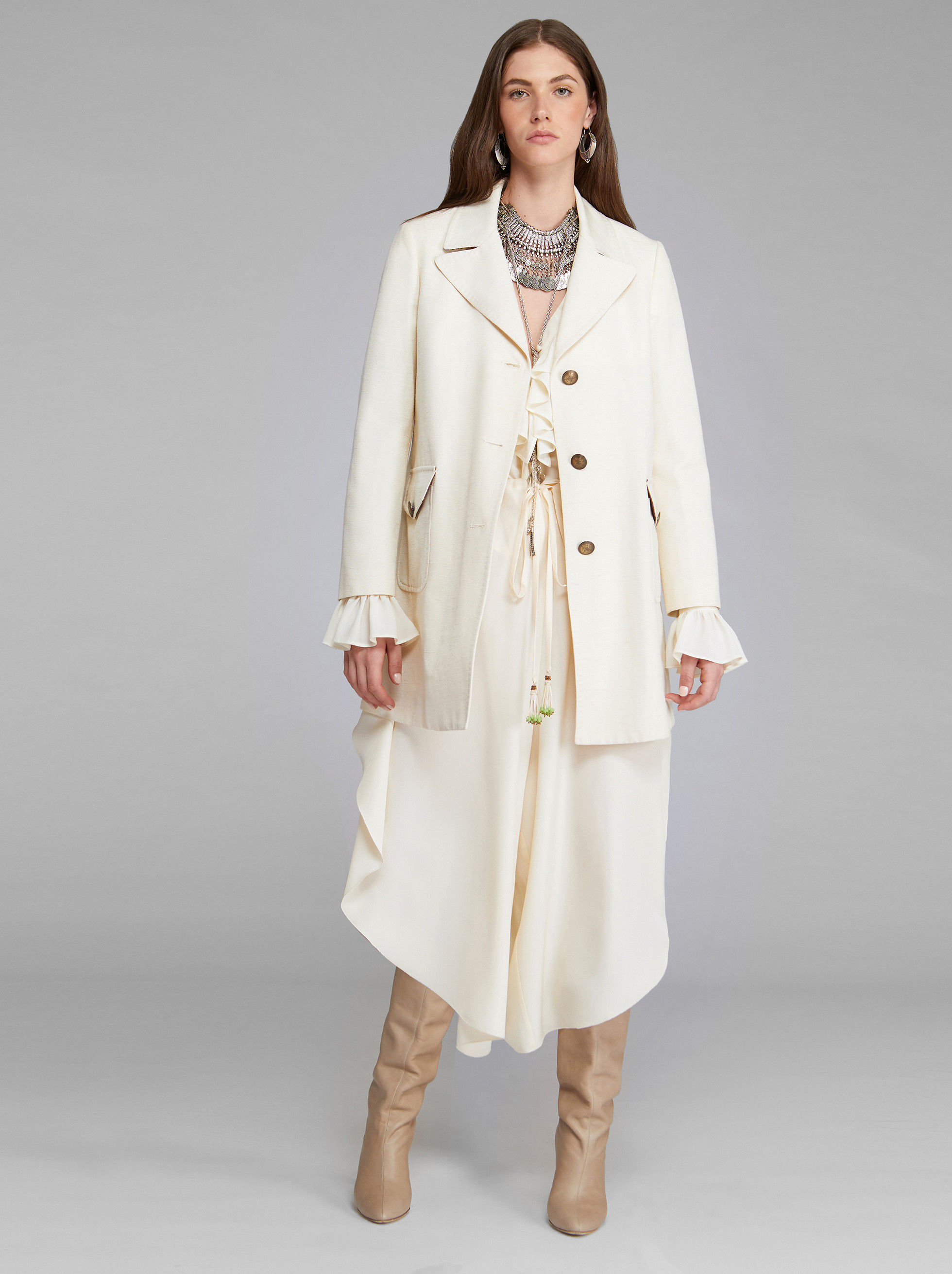 SILK AND COTTON COAT