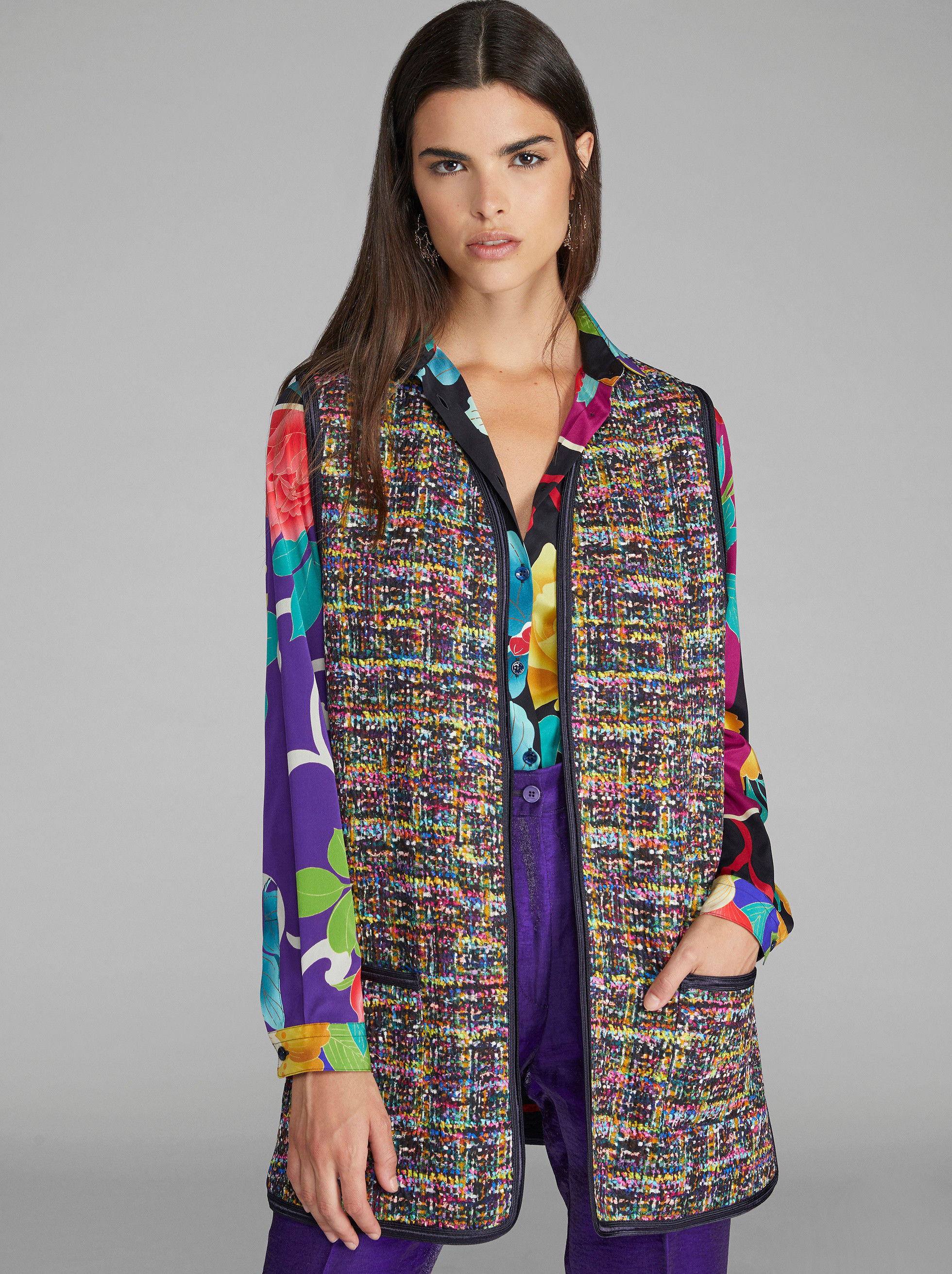 DOUBLE-SIDED MATELASSÉ SLEEVELESS JACKET