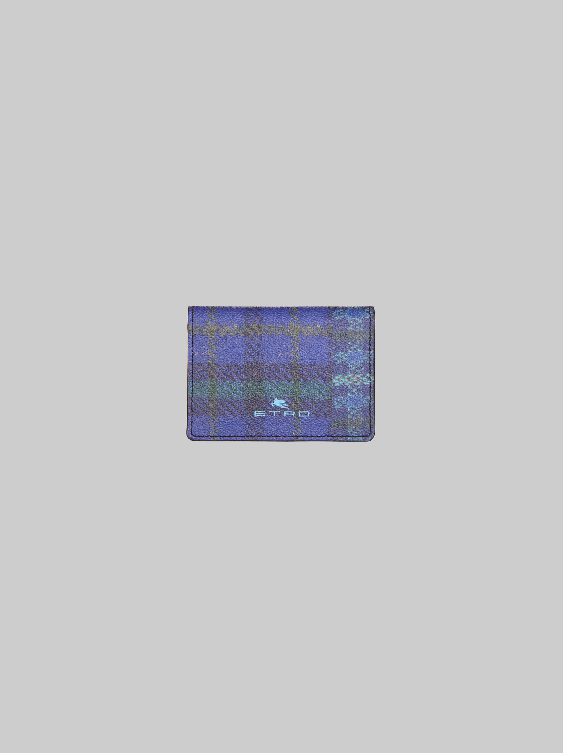 TARTAN-PRINT CREDIT CARD HOLDER