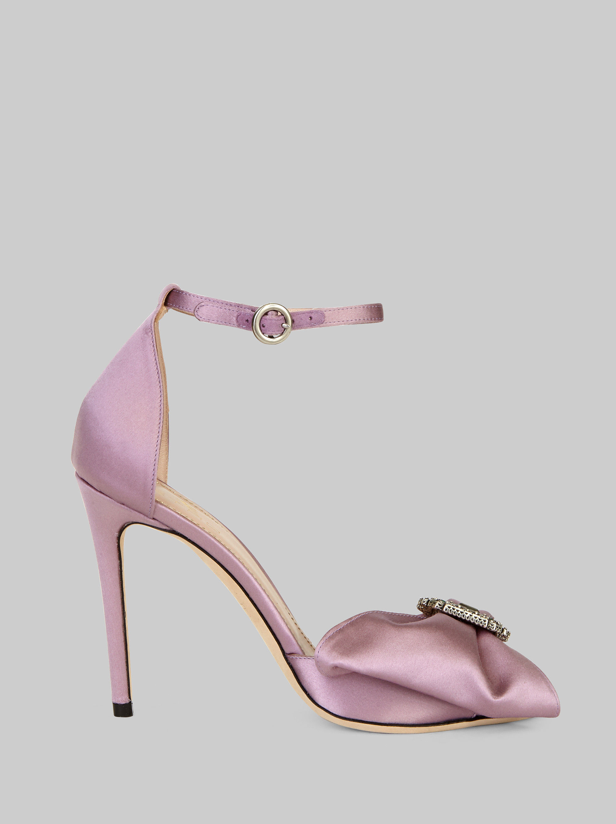 SATIN JEWEL SANDALS