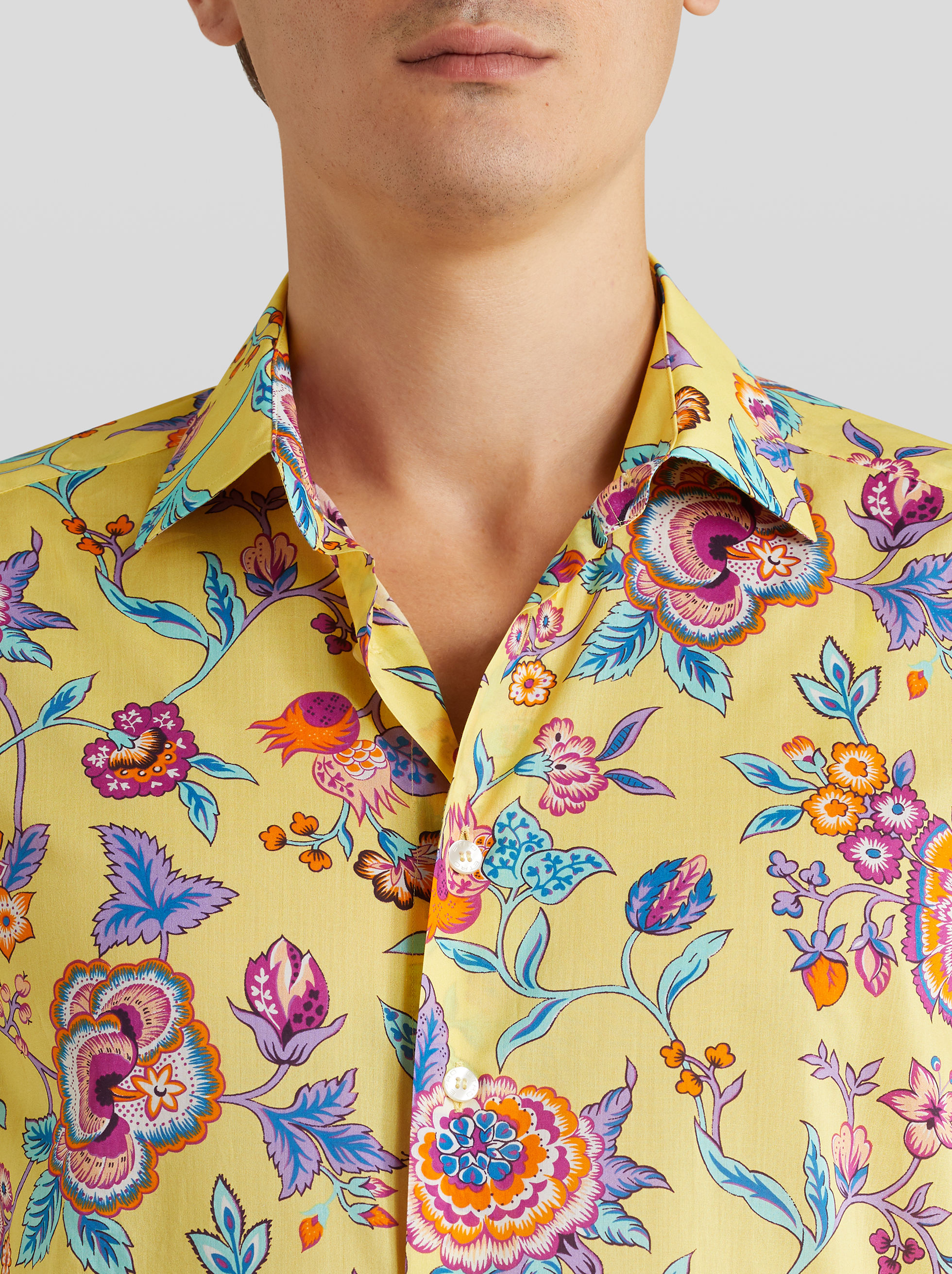 COTTON SHIRT WITH FLOWERED PRINT