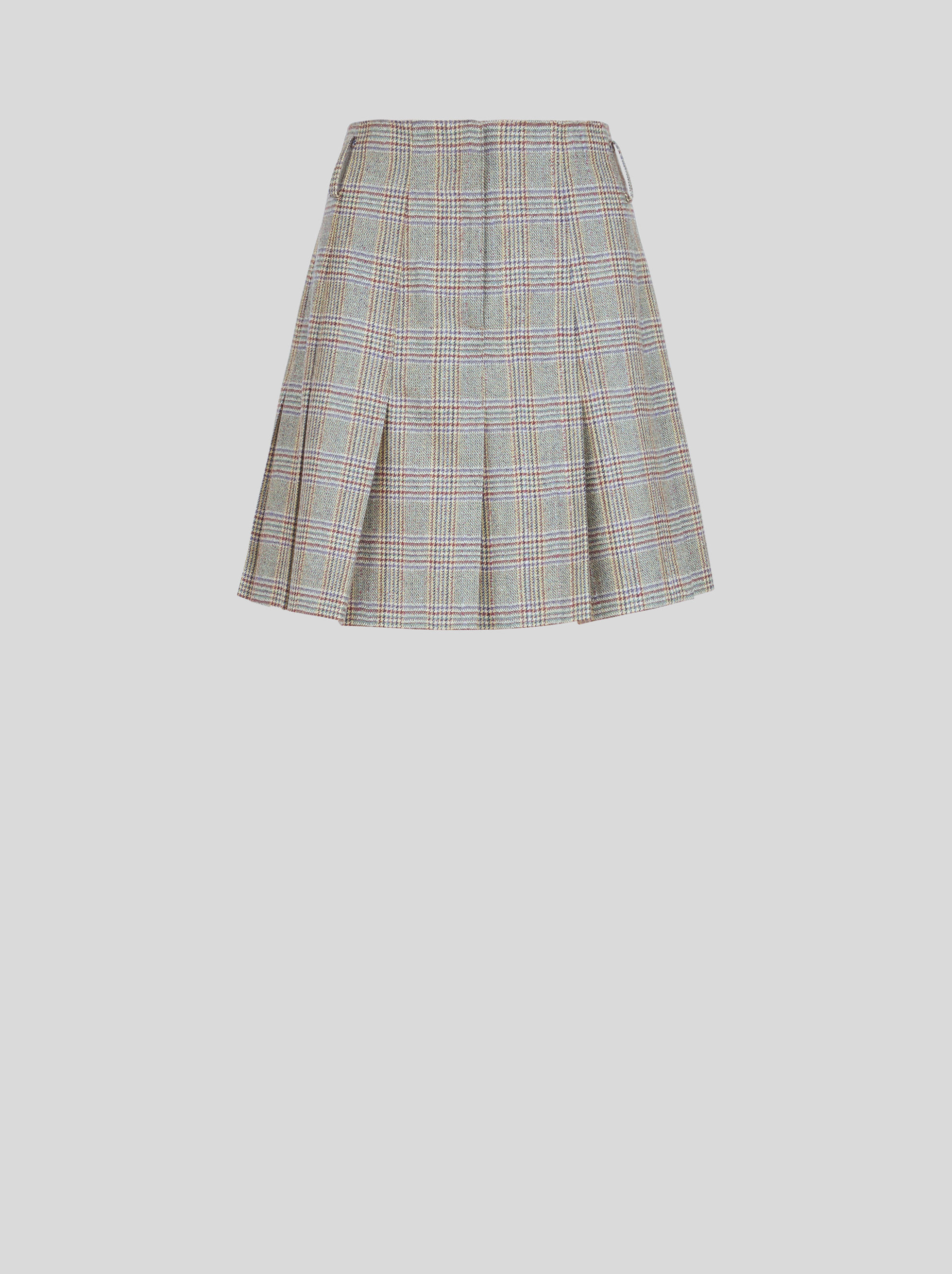 SHORT CHECK SKIRT