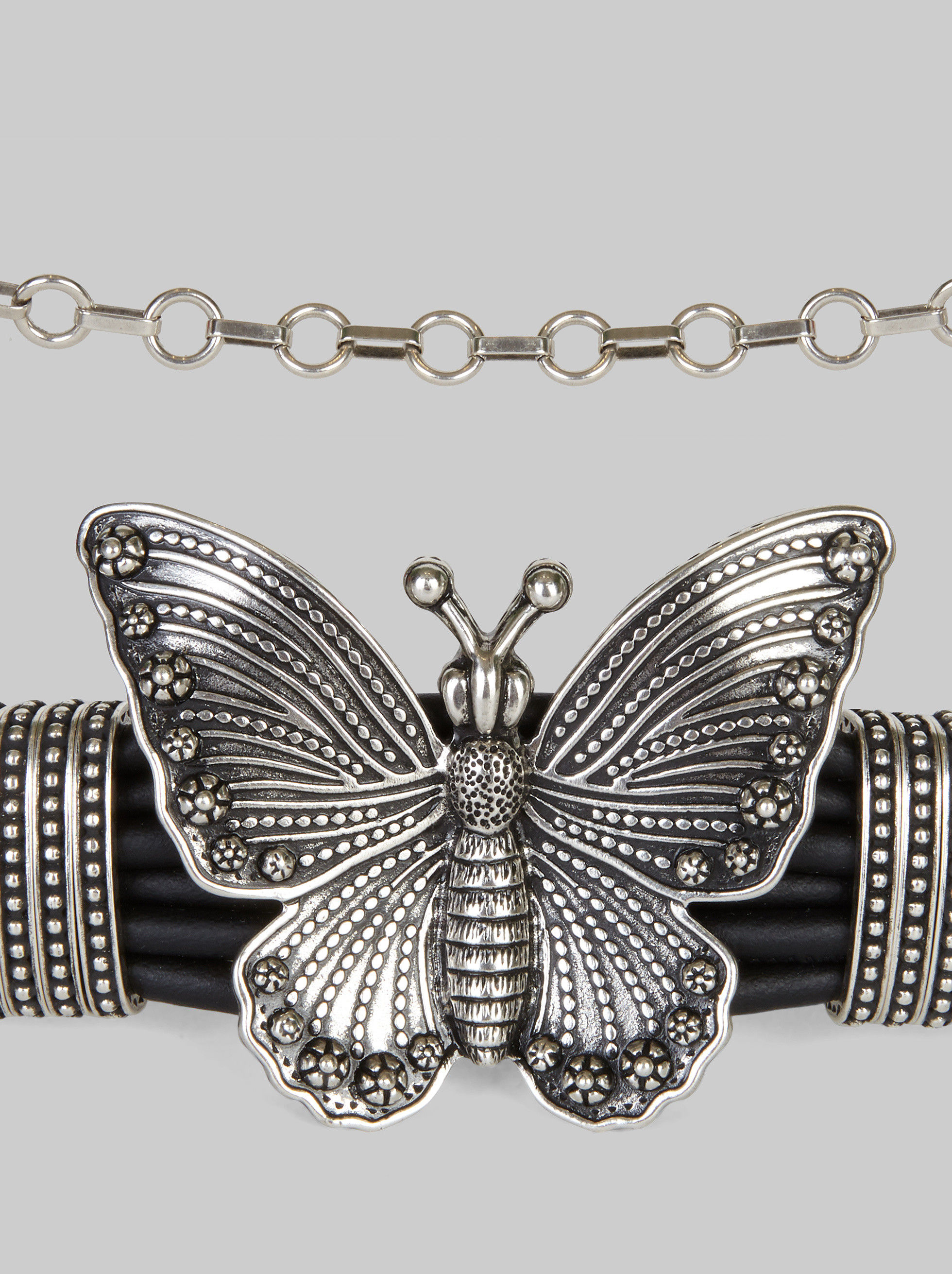 LEATHER BELT WITH BUTTERFLY BUCKLE