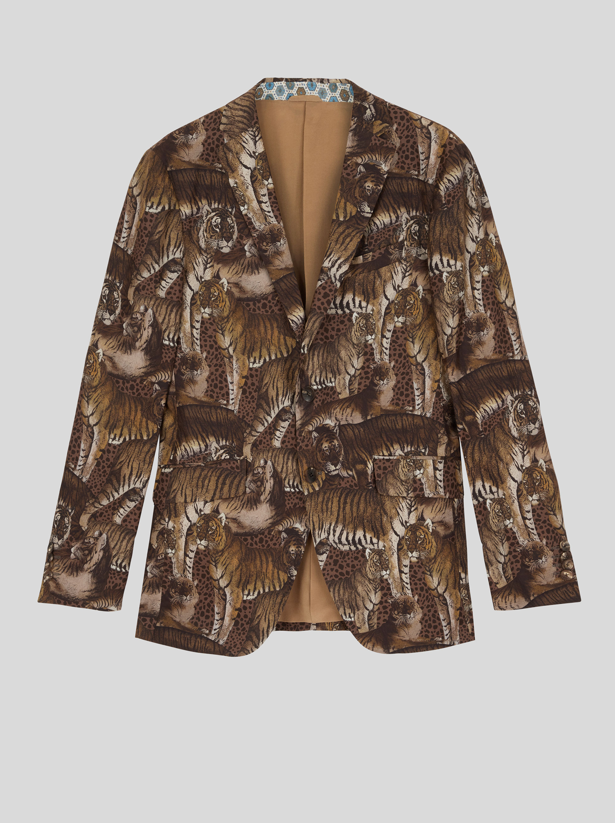 TAILORED JACKET IN ANIMAL PRINT