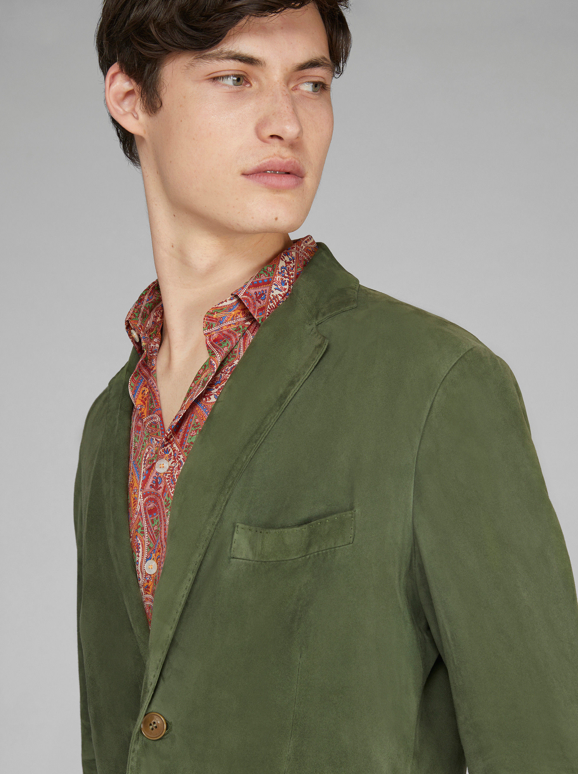 TAILORED SUEDE JACKET