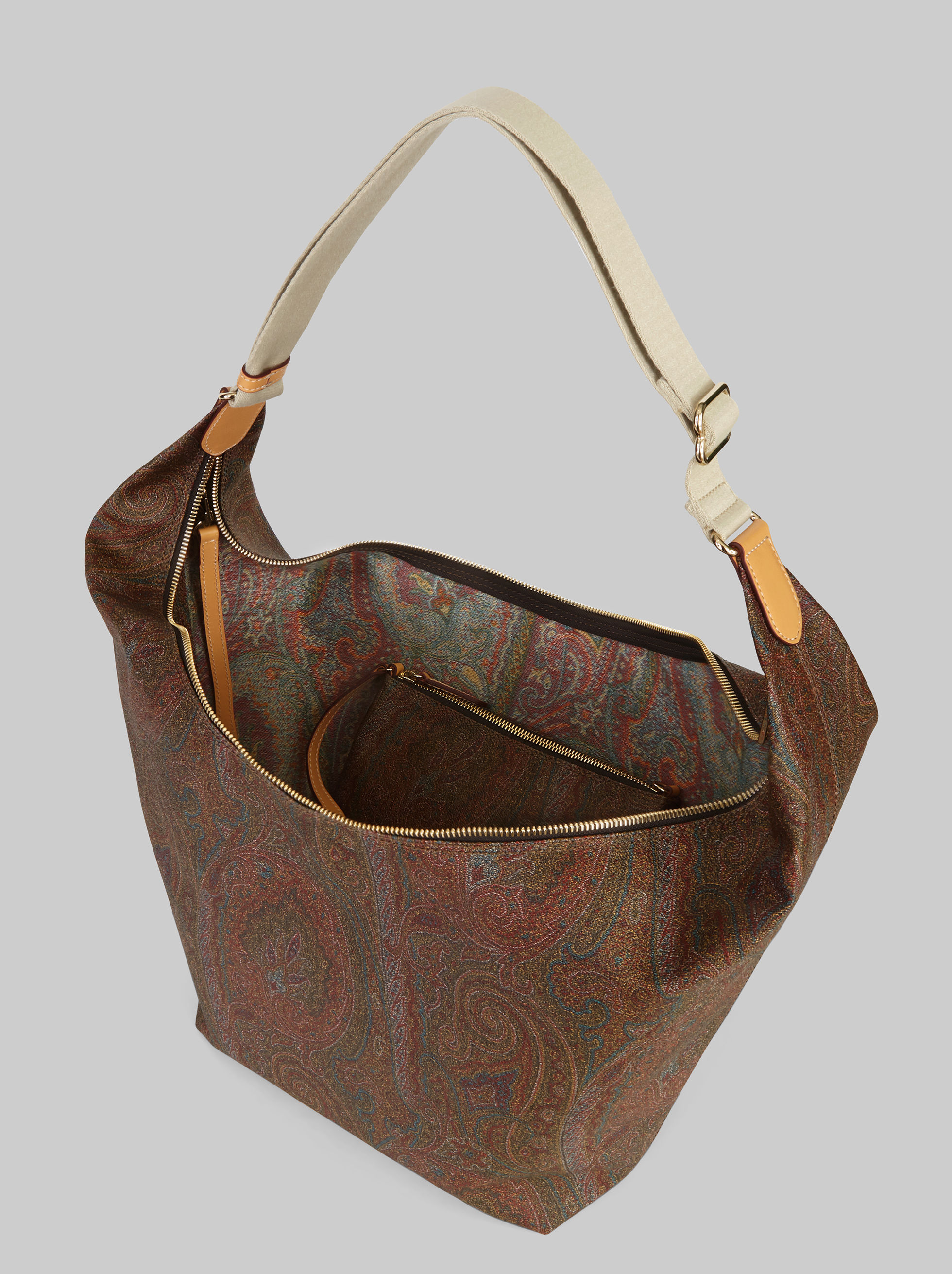 PAISLEY SCHULTERTASCHE MIT MAKE-UP BAG