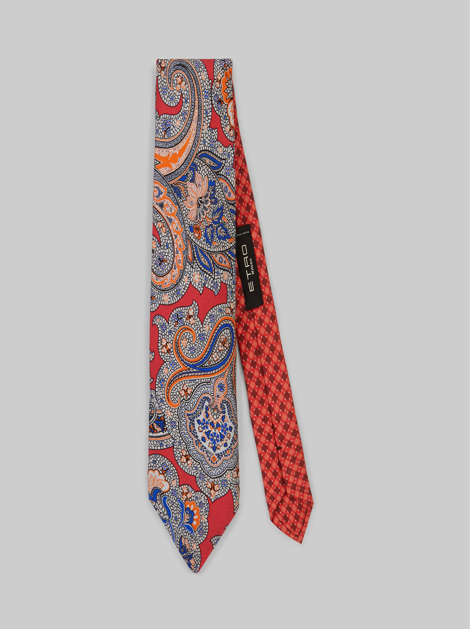 DUAL FLORAL PAISLEY FABRIC TIE