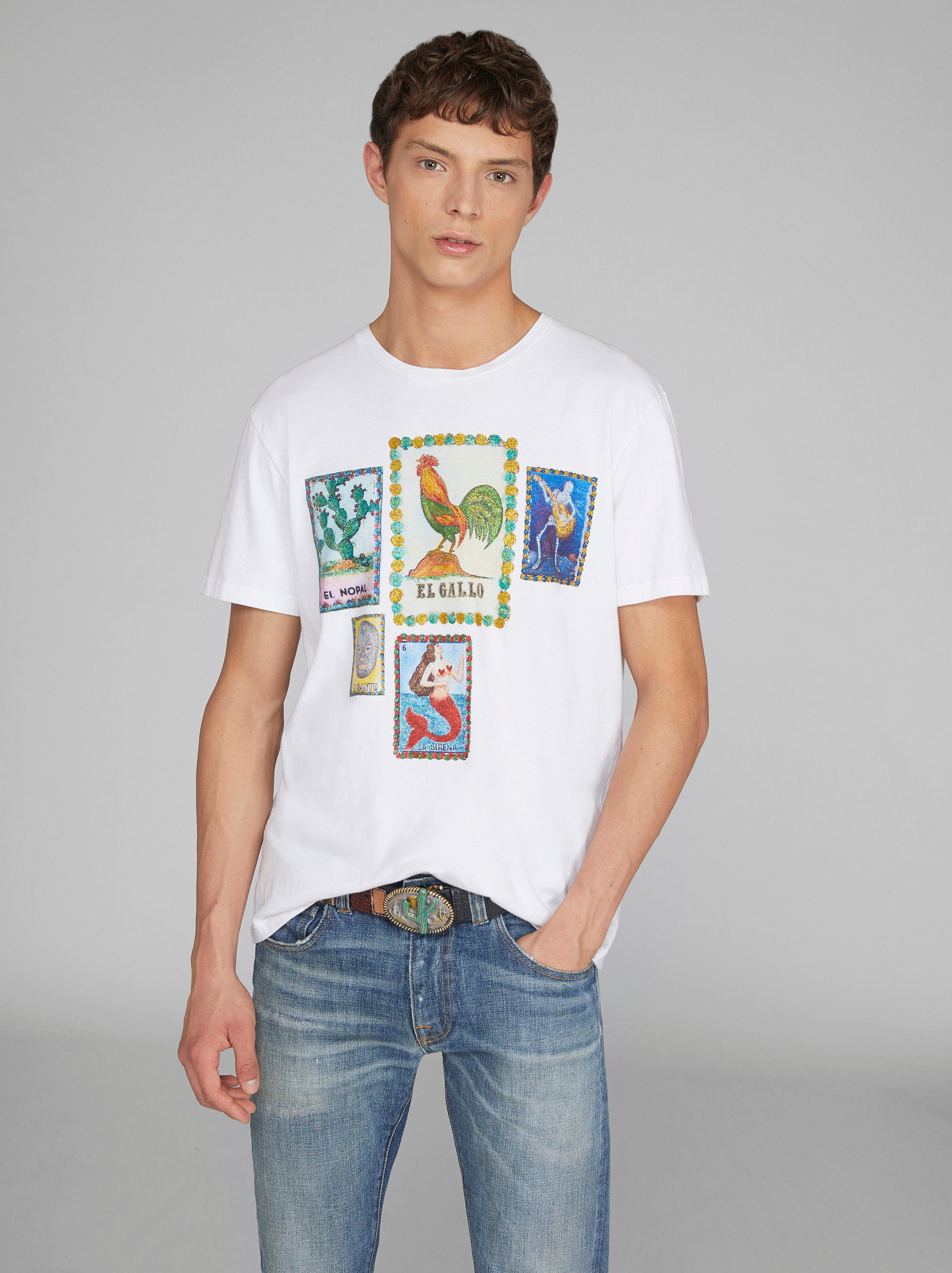 T-SHIRT WITH HANDPAINTED DETAILS