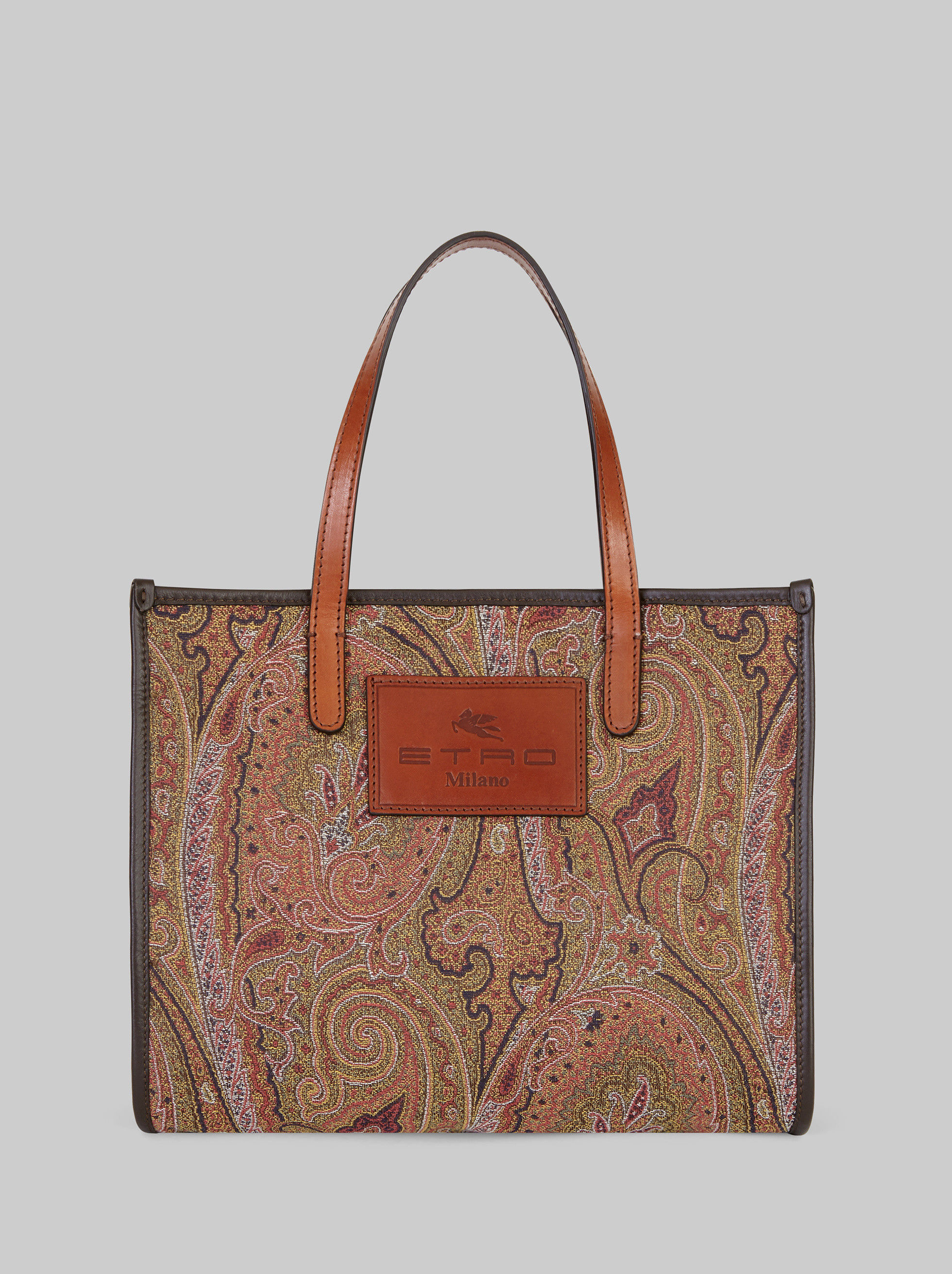 PAISLEY JACQUARD FABRIC SHOPPING BAG