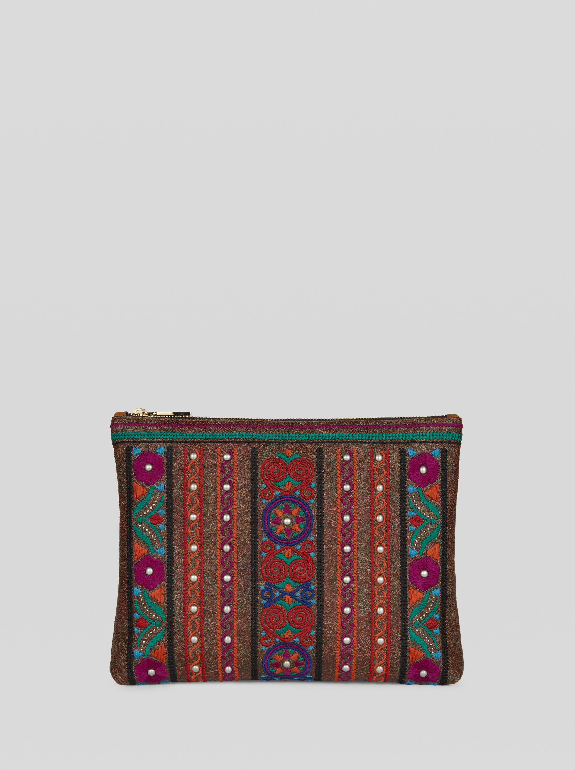 EMBROIDERED PAISLEY POUCH