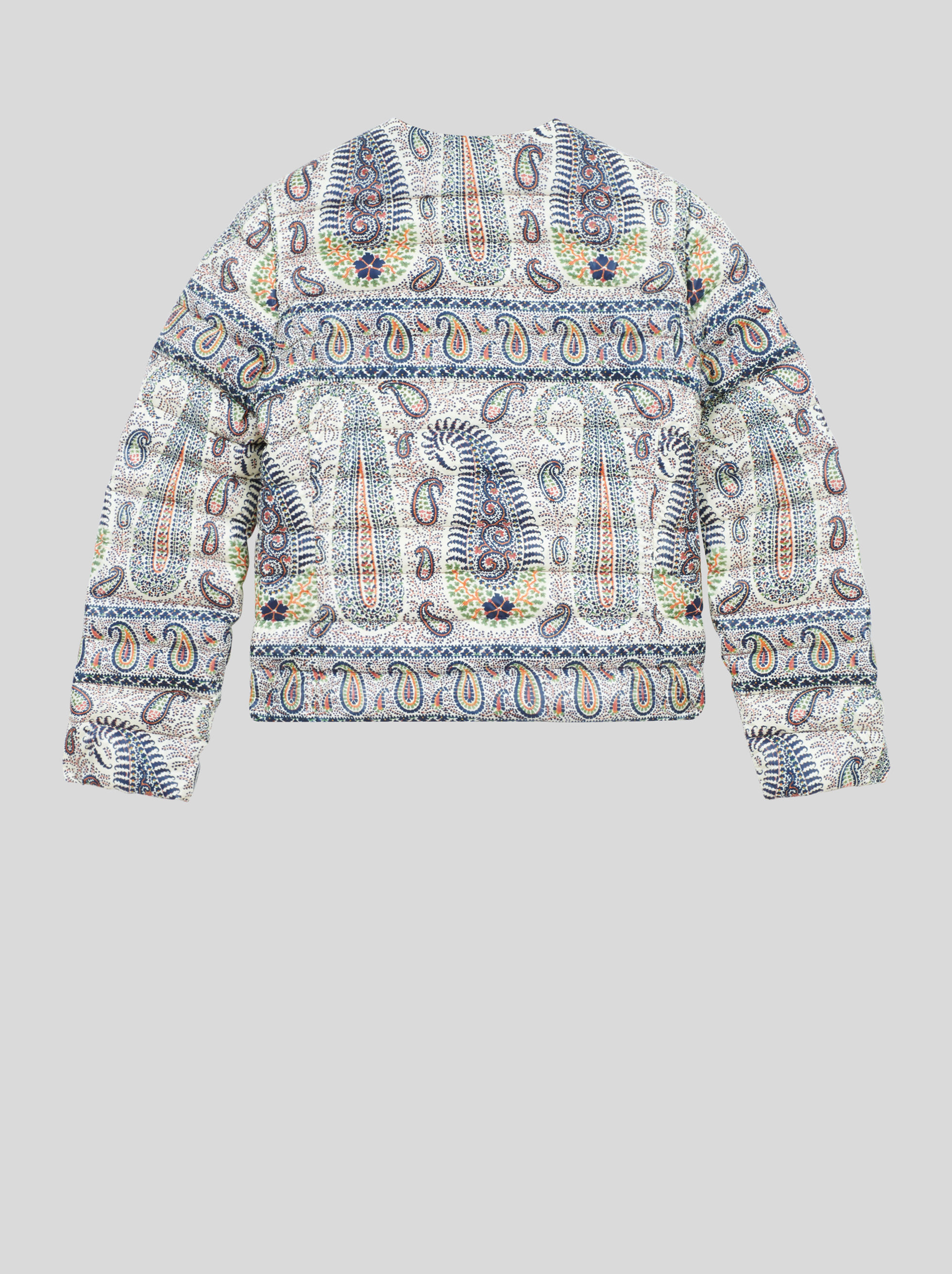 MOSAIC PAISLEY PRINT QUILTED JACKET