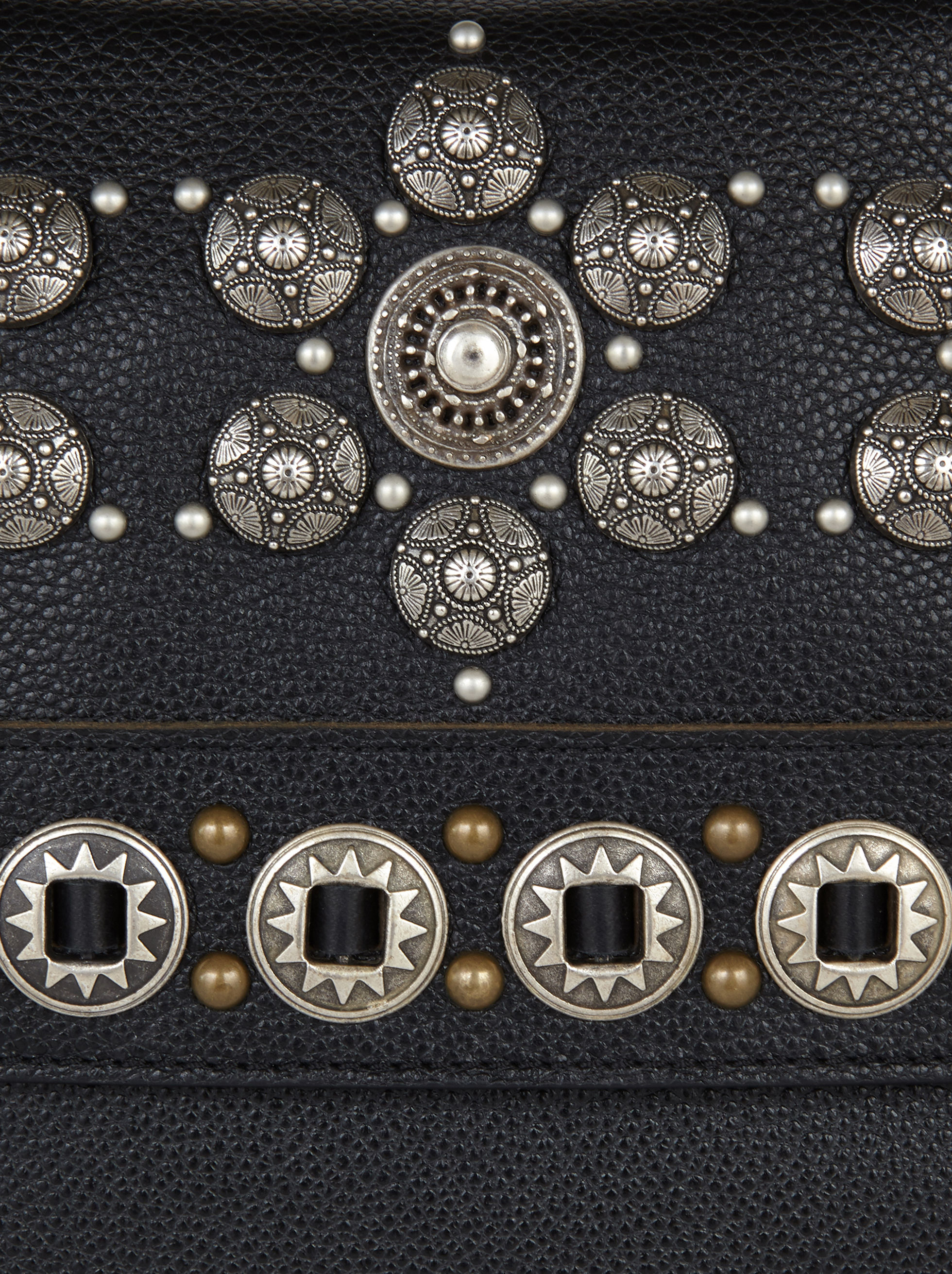 LARGE FOULARD BAG WITH STUDS